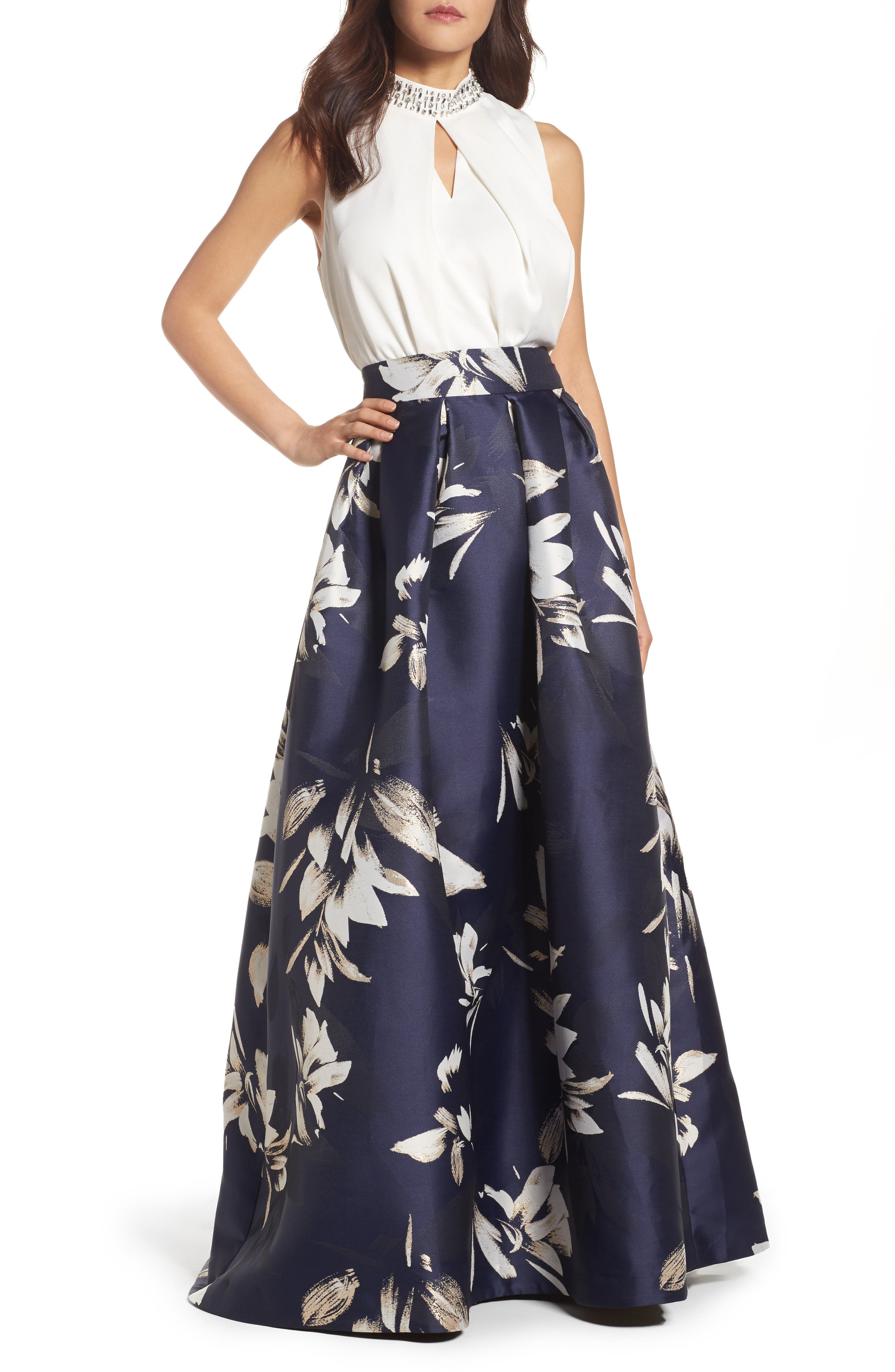 Metallic Jacquard Ball Skirt,                             Alternate thumbnail 2, color,                             410
