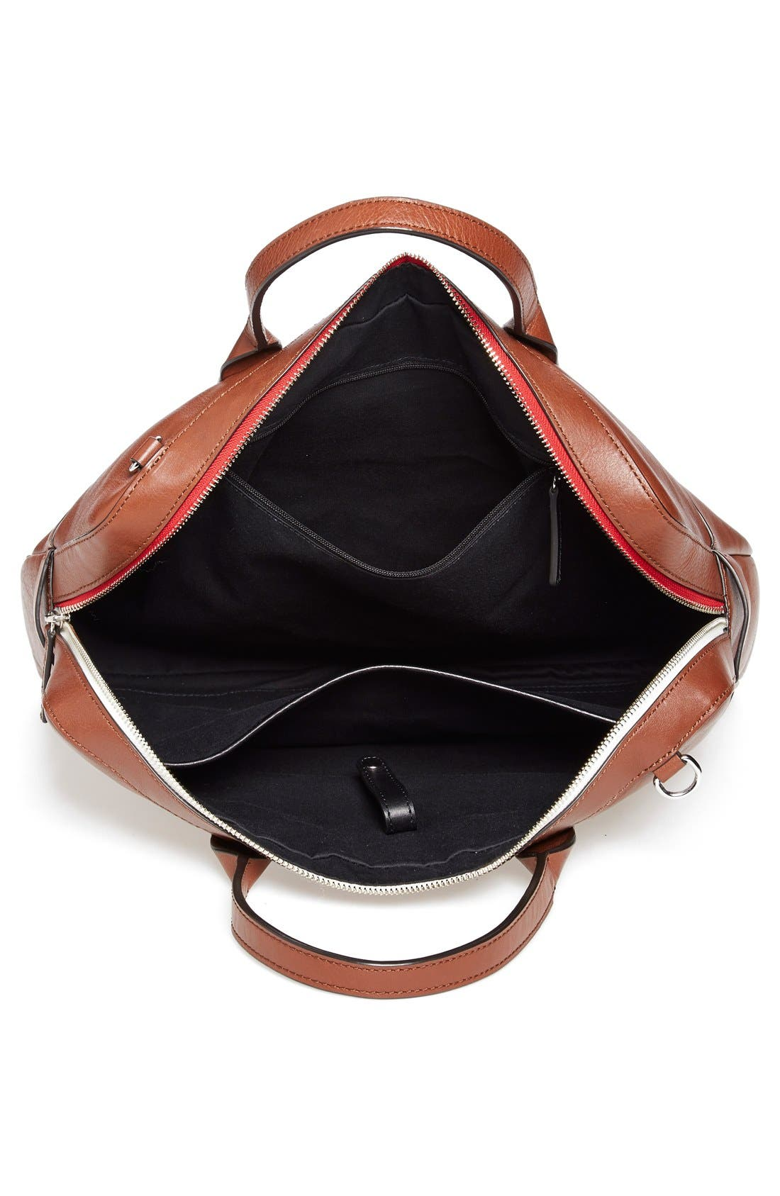 Ben Minkoff 'Fulton' Leather Briefcase,                             Alternate thumbnail 3, color,                             233