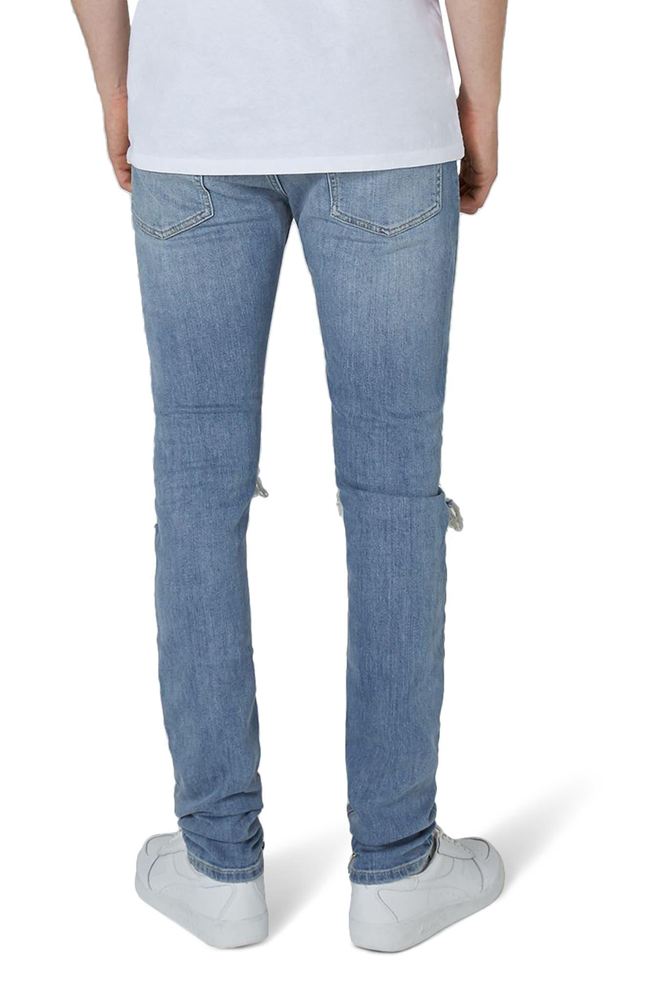 Destroyed Stacker Jeans,                             Alternate thumbnail 2, color,                             400