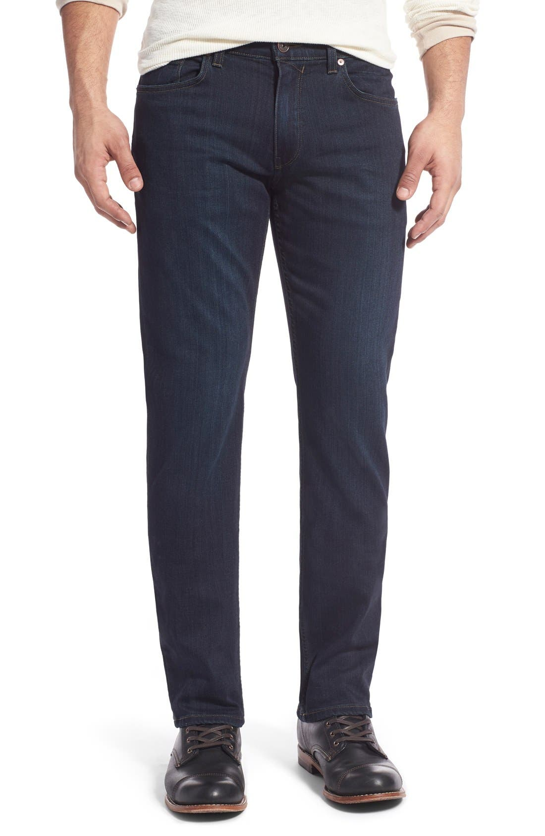 Transcend - Lennox Straight Leg Jeans,                         Main,                         color, CELLAR