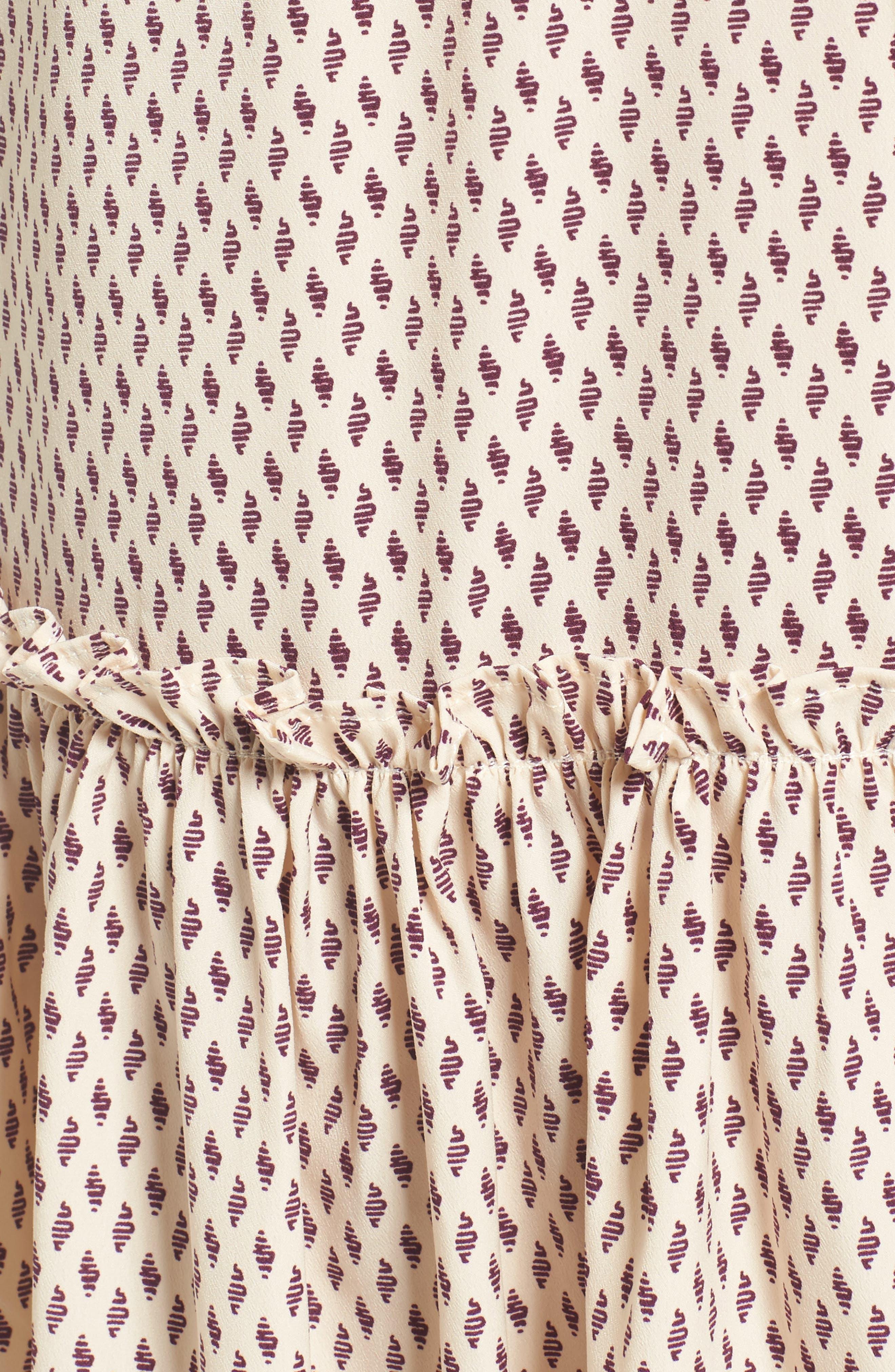 Martina Midi Dress,                             Alternate thumbnail 5, color,                             901