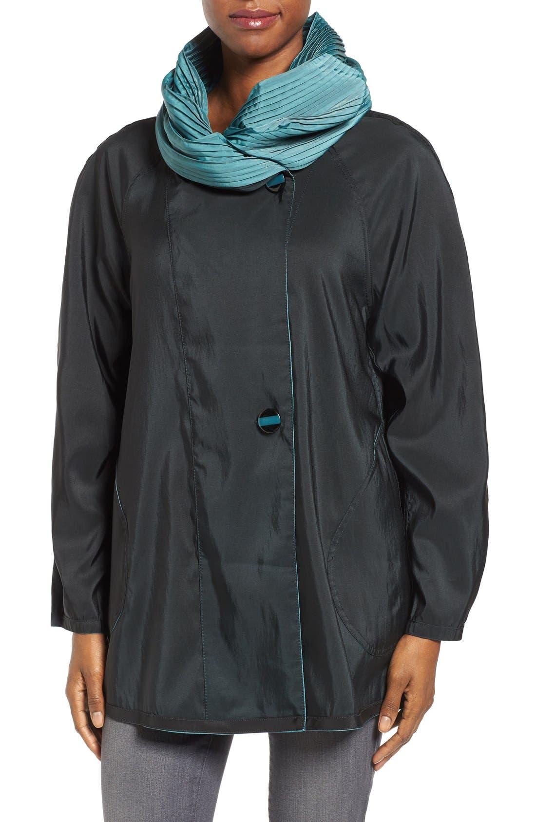 'Mini Donatella' Reversible Pleat Hood Packable Travel Coat,                             Alternate thumbnail 54, color,