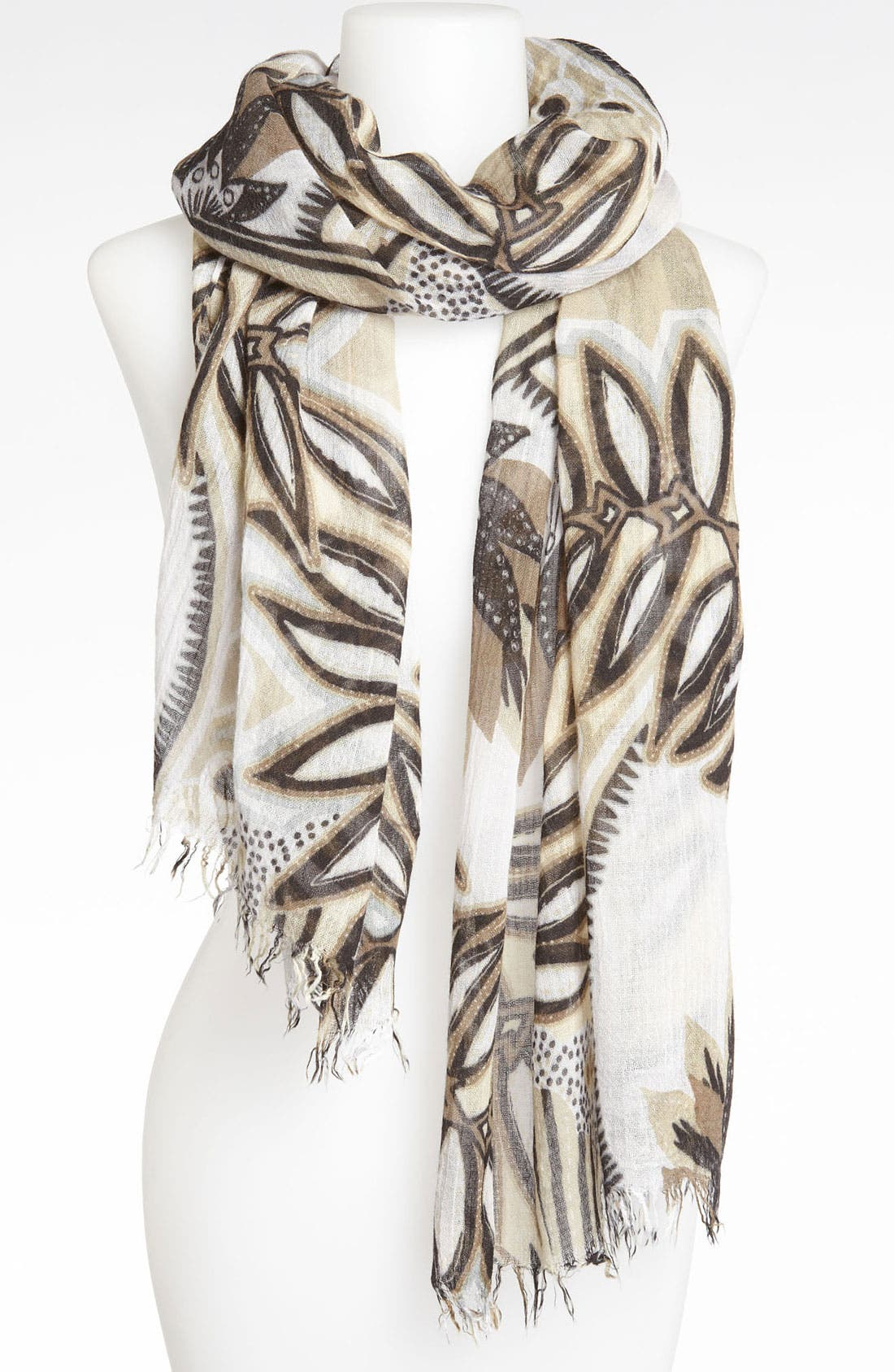 'Tribal Mudcloth' Scarf,                         Main,                         color, 001