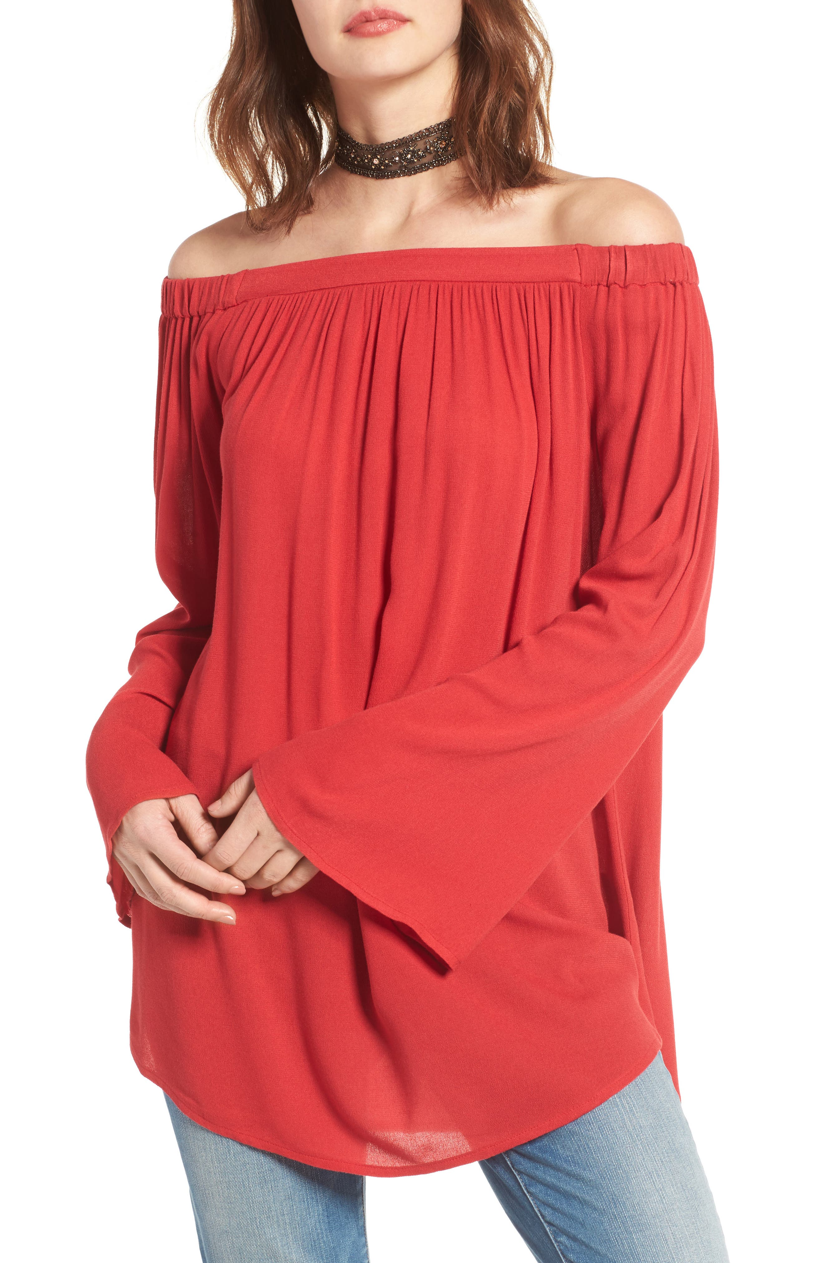 Off the Shoulder Tunic,                             Main thumbnail 6, color,