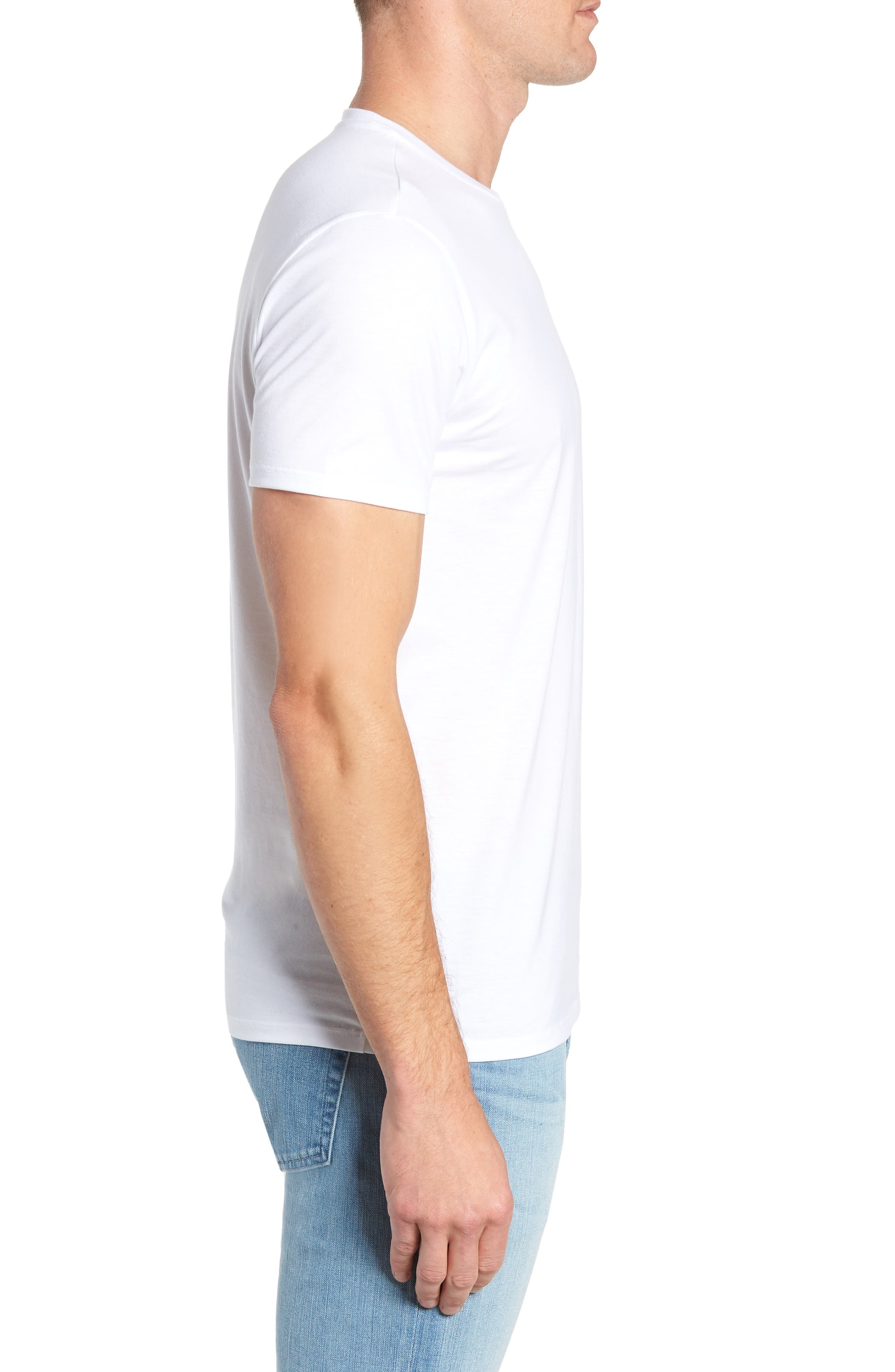 Pima Cotton T-Shirt,                             Alternate thumbnail 3, color,                             WHITE