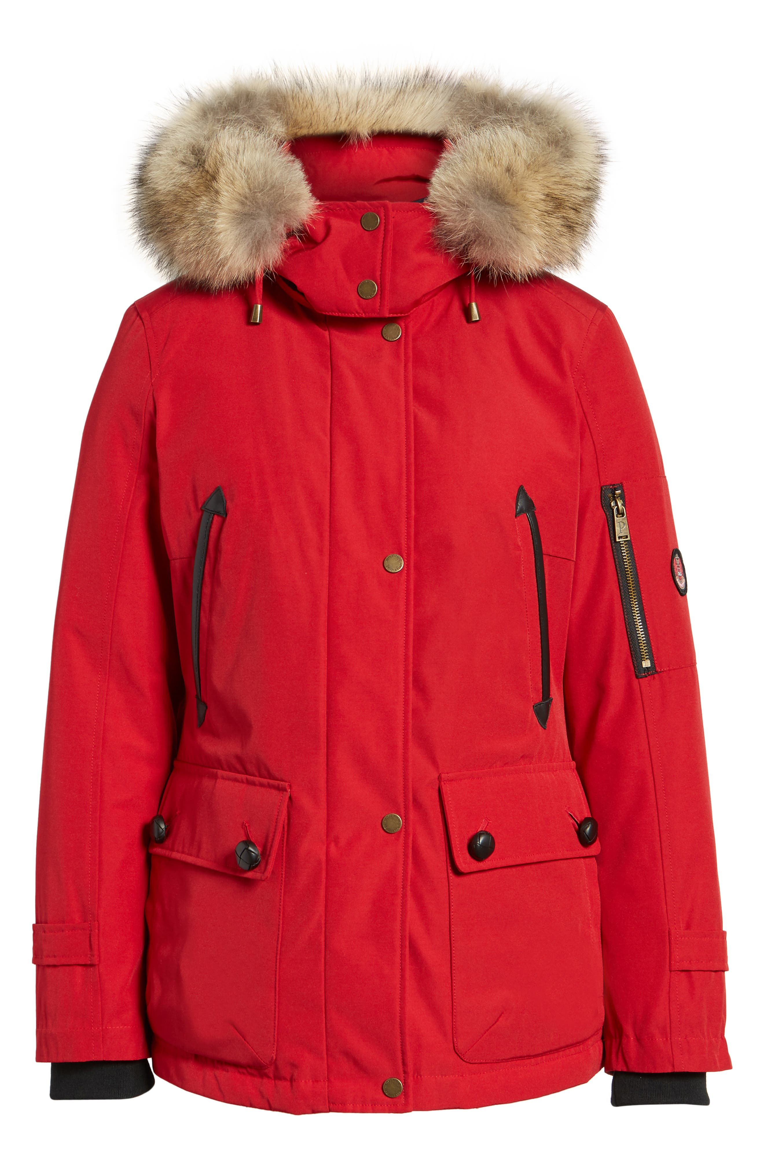 Bachelor Water Repellent Hooded Down Parka with Genuine Coyote Fur Trim,                             Alternate thumbnail 20, color,
