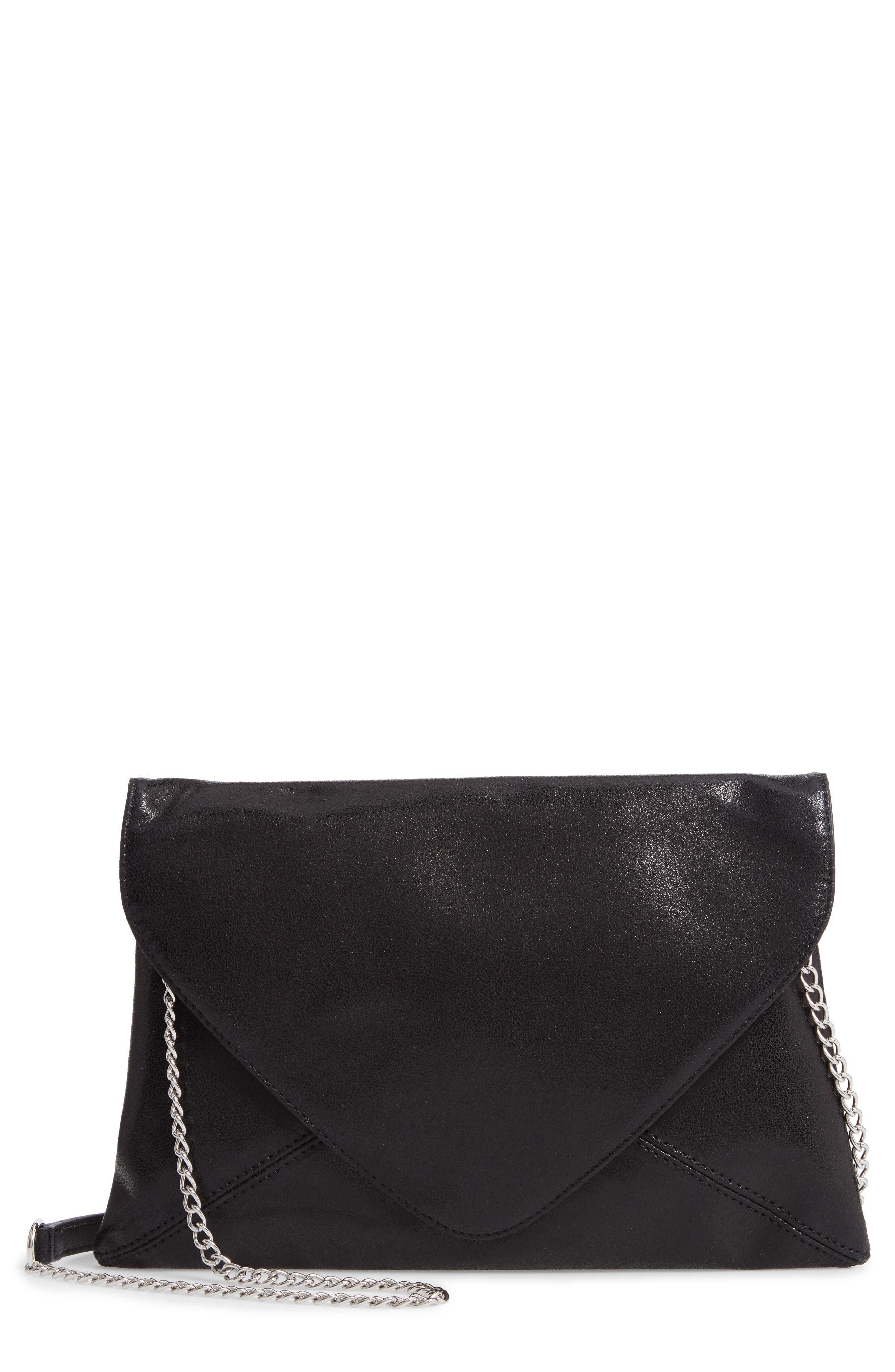 Jade Envelope Clutch,                         Main,                         color, BLACK
