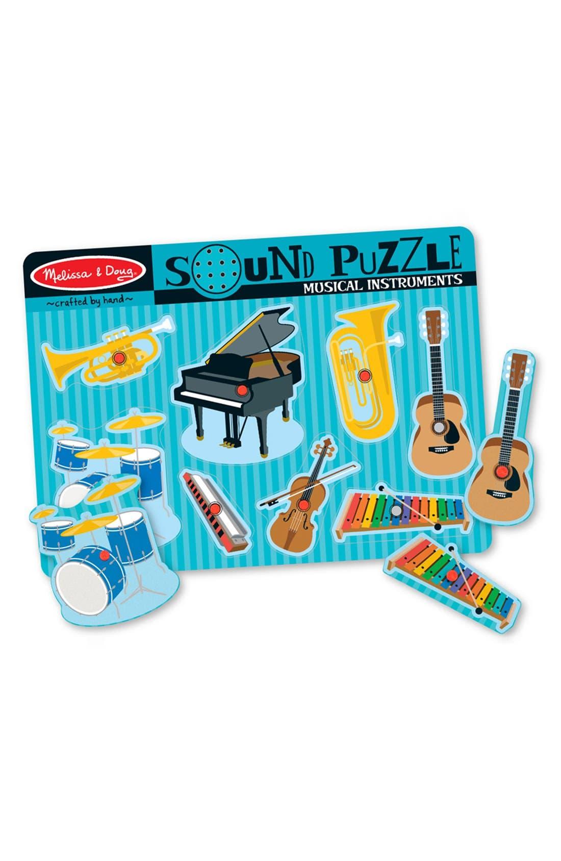 'Musical Instruments' Sound Puzzle,                             Main thumbnail 1, color,                             BLUE