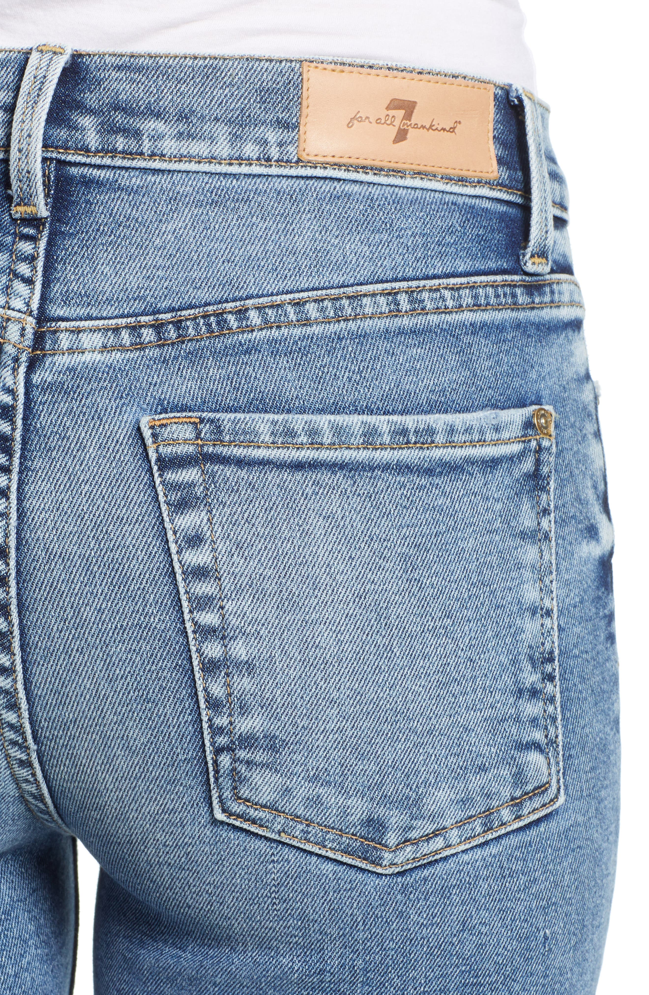 Luxe Vintage High Waist Ankle Skinny Jeans,                             Alternate thumbnail 4, color,                             LUXE VINTAGE MUSE