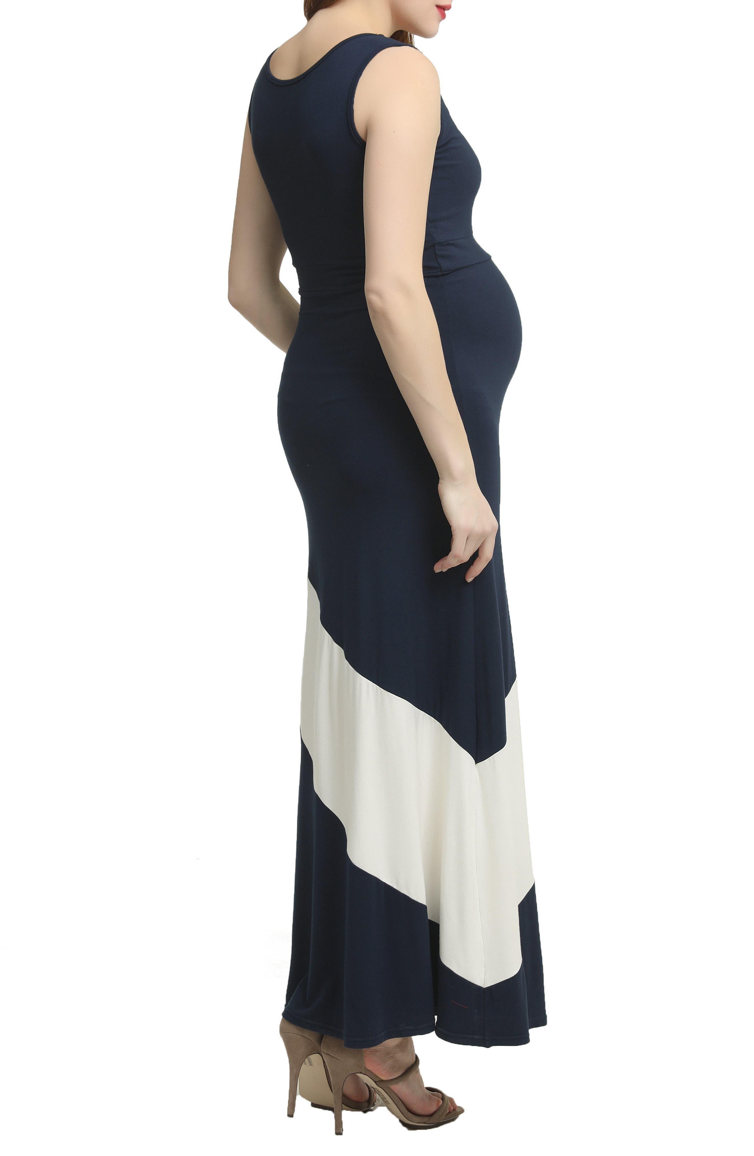Kiersten Colorblock Maxi Dress,                             Alternate thumbnail 2, color,                             NAVY