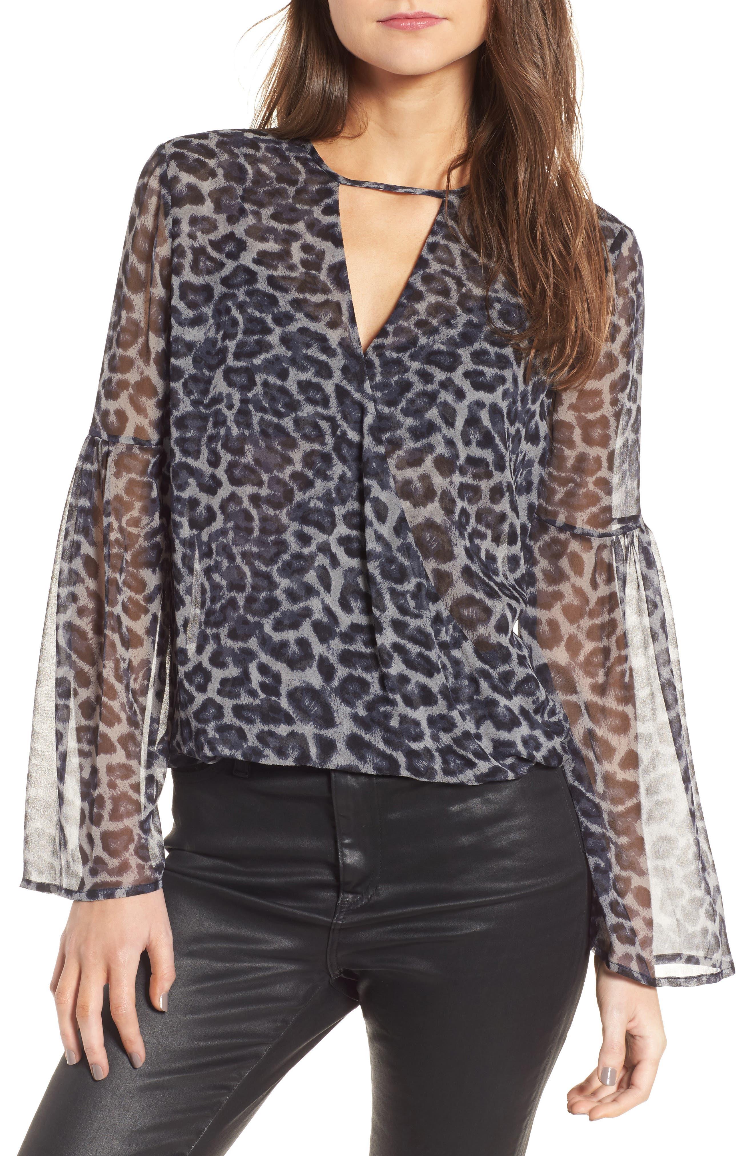 Tigris Print Silk Shirt,                         Main,                         color, 009