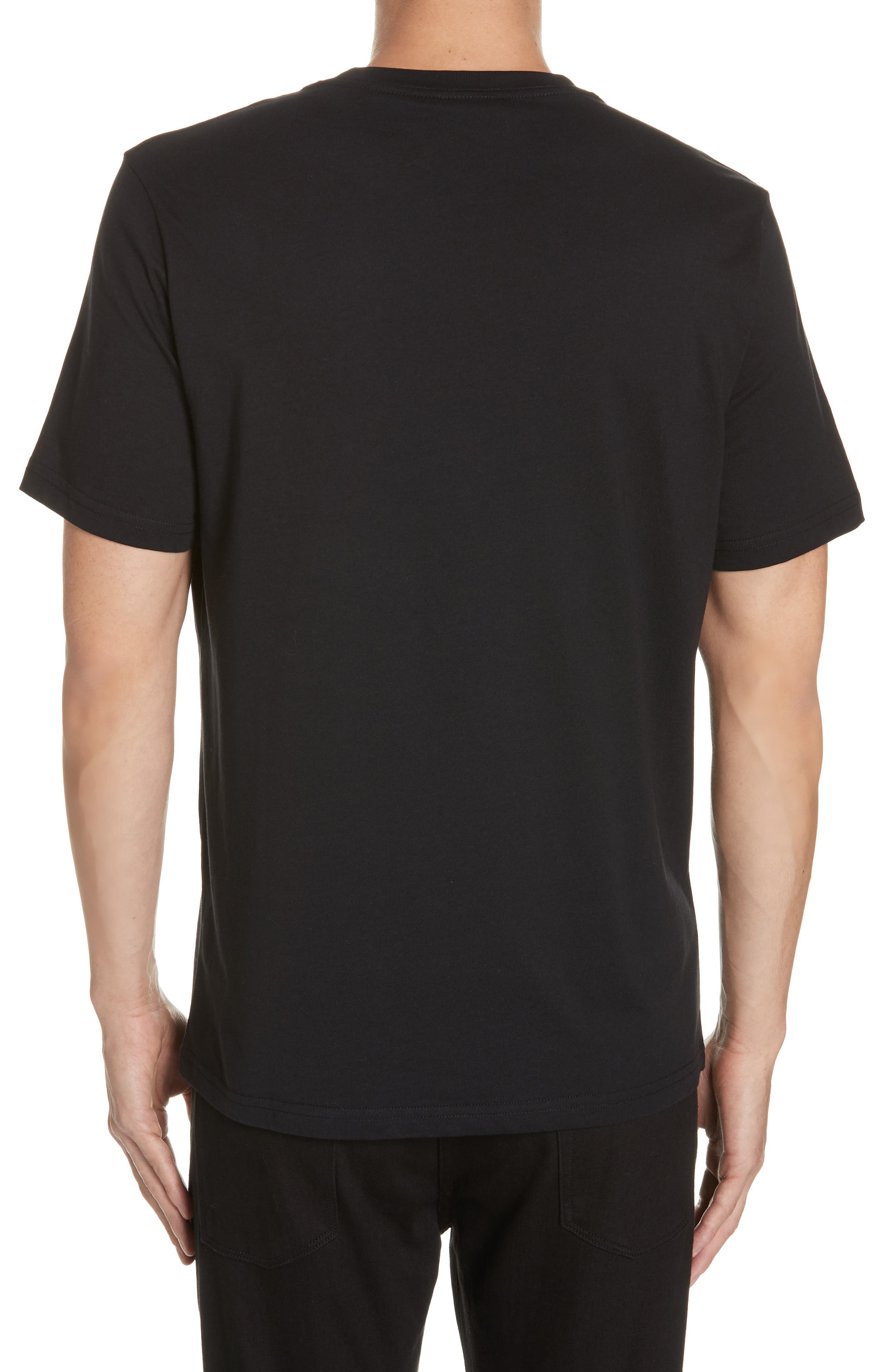 Monkey Skull Graphic T-Shirt,                             Alternate thumbnail 2, color,                             BLACK