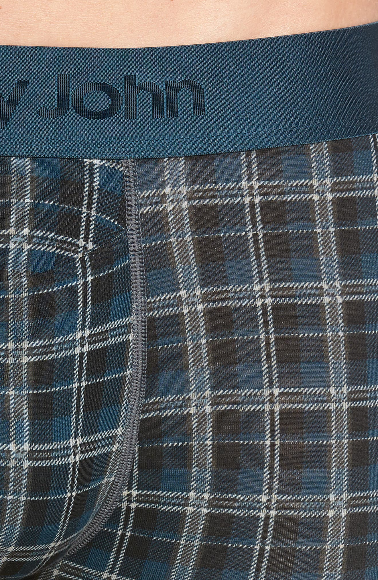 Second Skin Plaid Trunks,                             Alternate thumbnail 4, color,                             REFLECTING POND