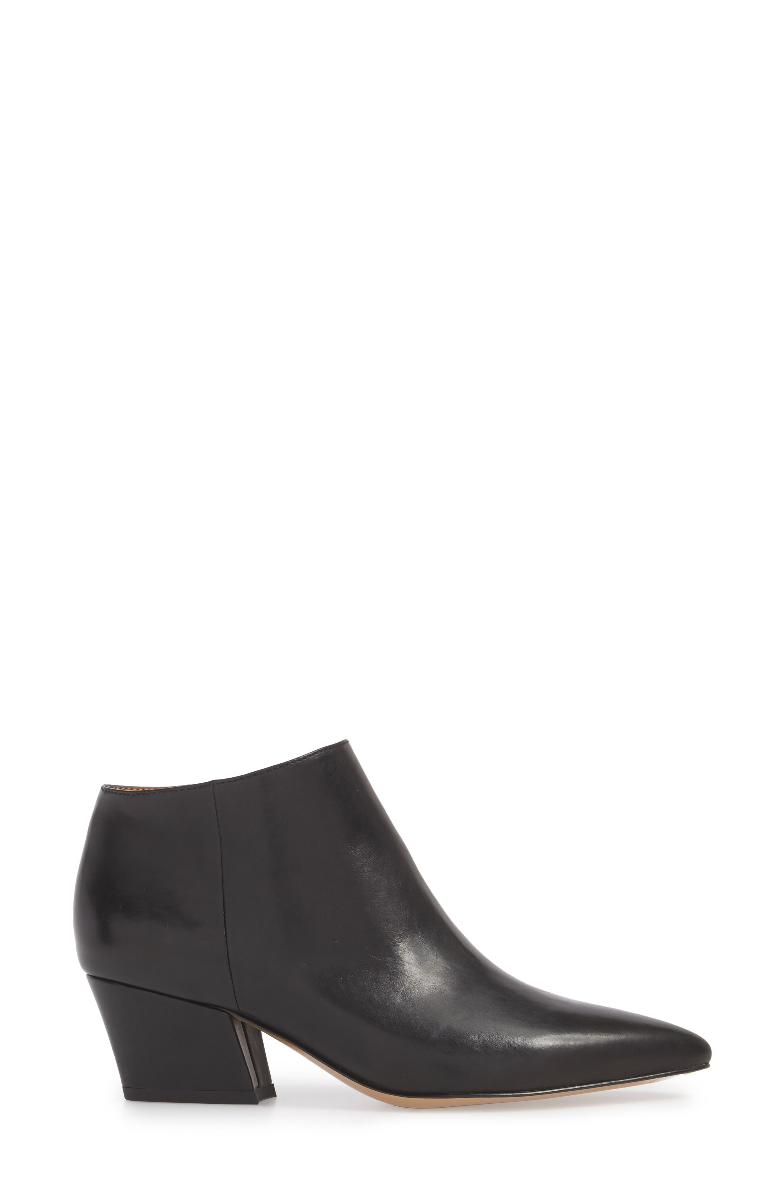 Lowe Bootie,                             Alternate thumbnail 3, color,                             BLACK LEATHER
