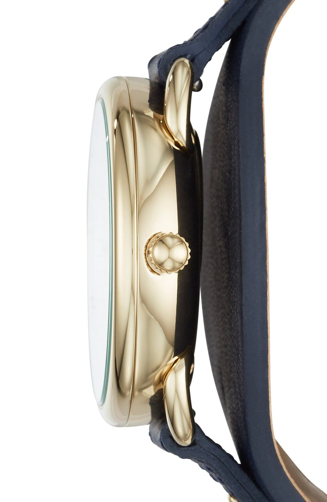 'Tailor' Multifunction Leather Strap Watch, 35mm,                             Alternate thumbnail 9, color,
