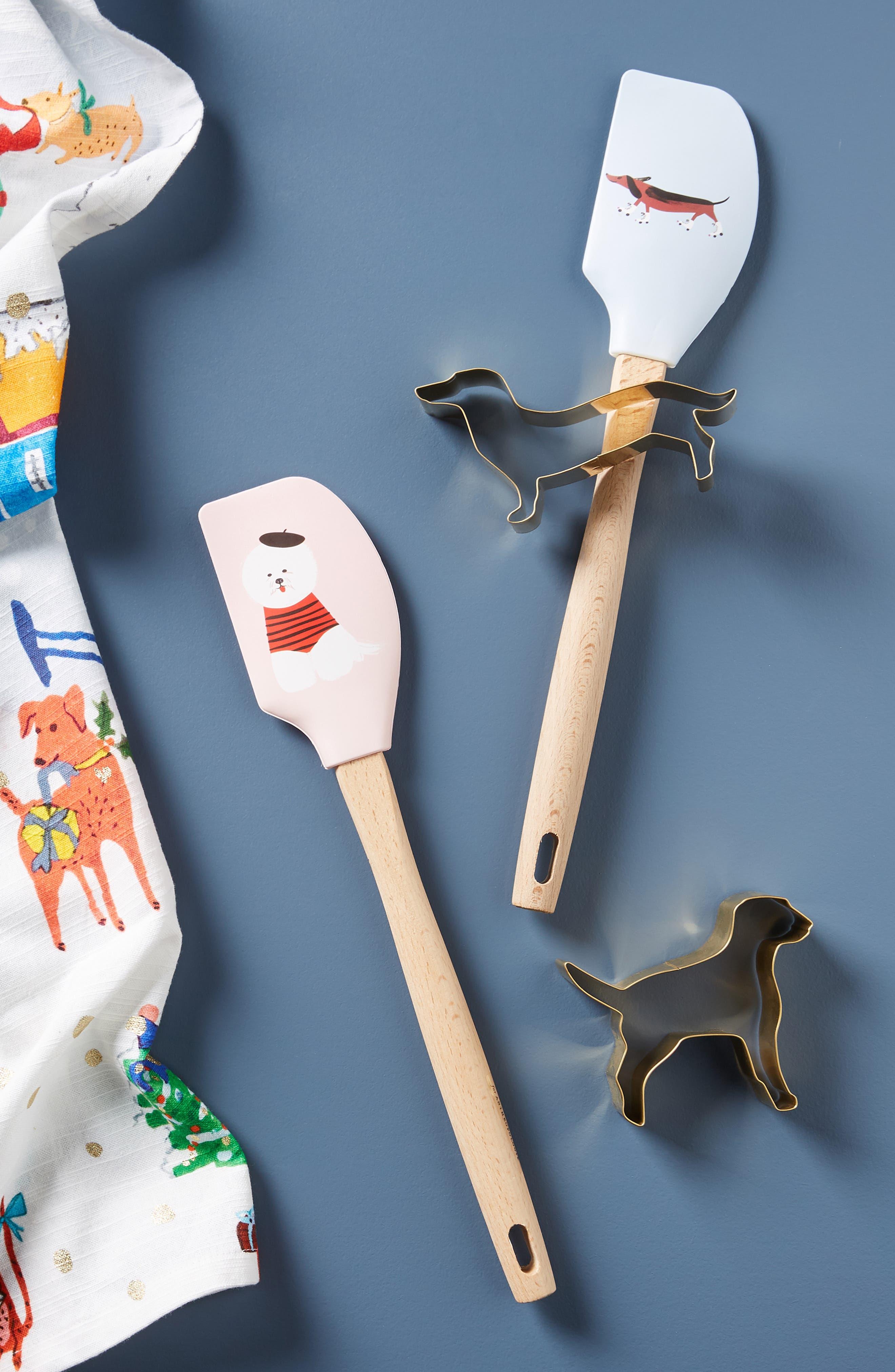 x Libby VanderPloeg Dashing Dog Spatula & Cookie Cutter Set,                         Main,                         color, DOG1