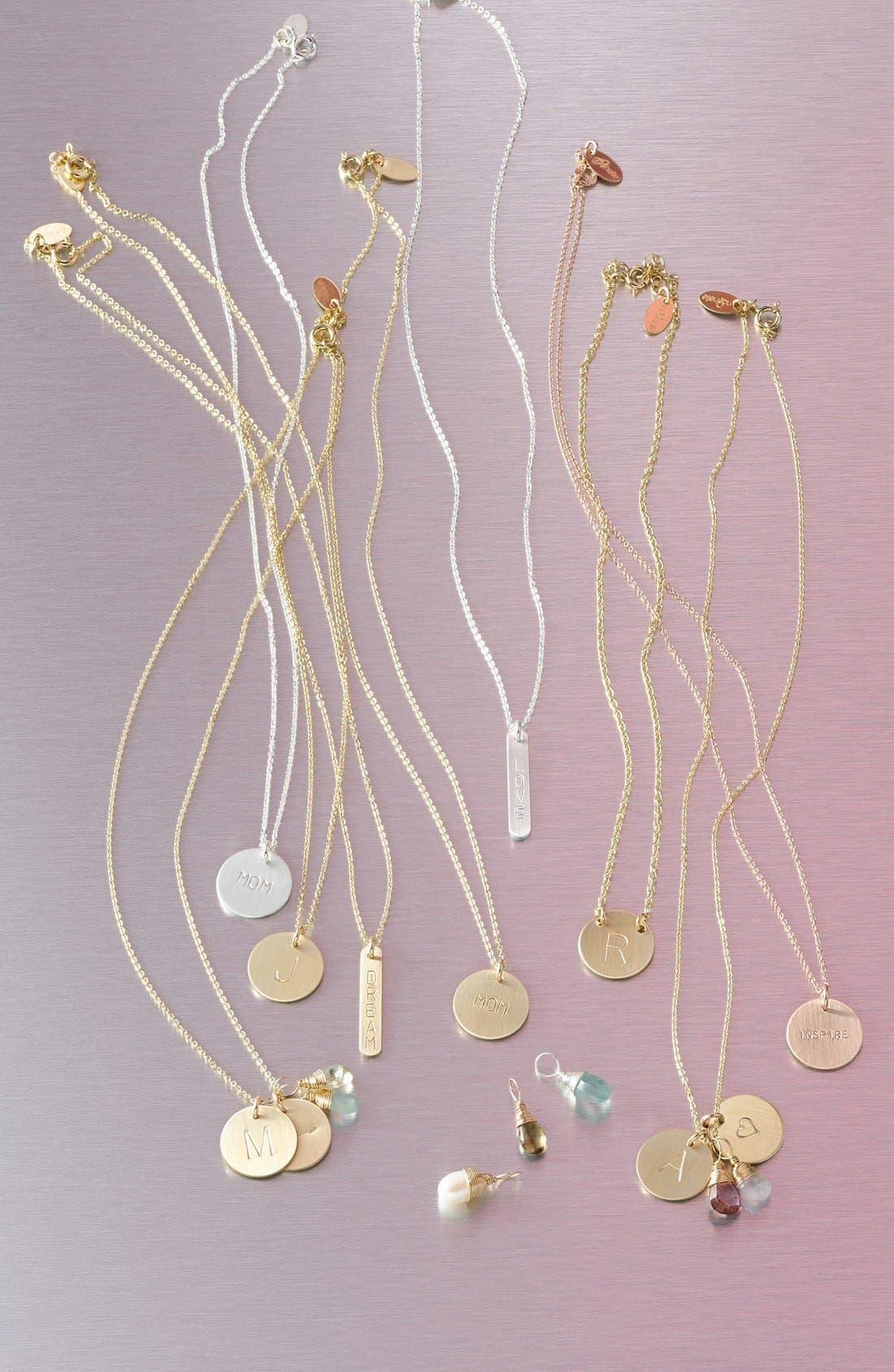 14k-Rose Gold Fill & Semiprecious Stone Charm,                             Alternate thumbnail 2, color,                             GARNET