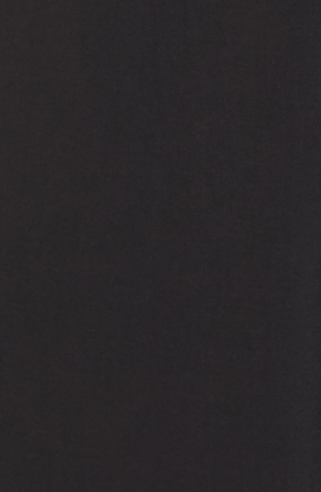 Off the Shoulder Cover-Up Jumpsuit,                             Alternate thumbnail 5, color,                             BLACK