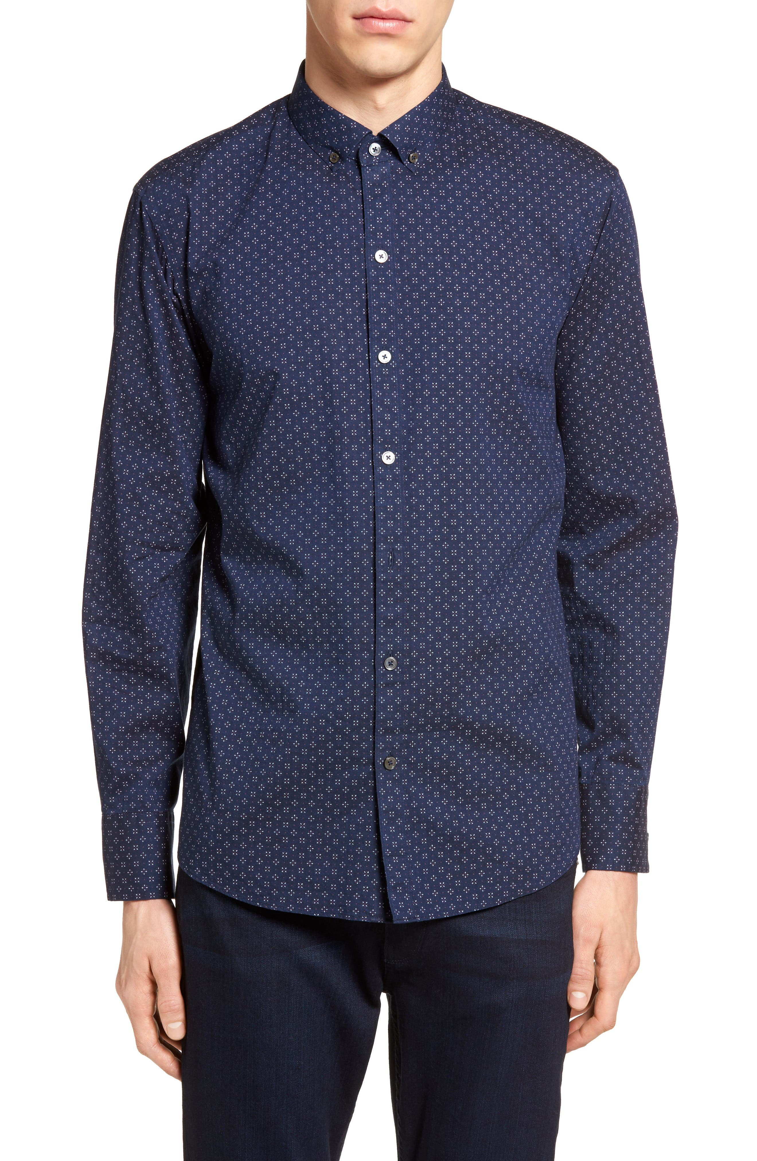 Kinnear Slim Fit Print Shirt,                             Main thumbnail 1, color,