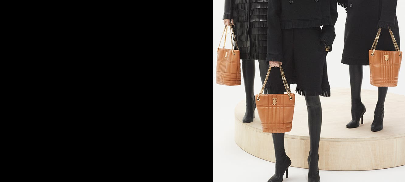 Burberry AW '21 clothing and accessories.