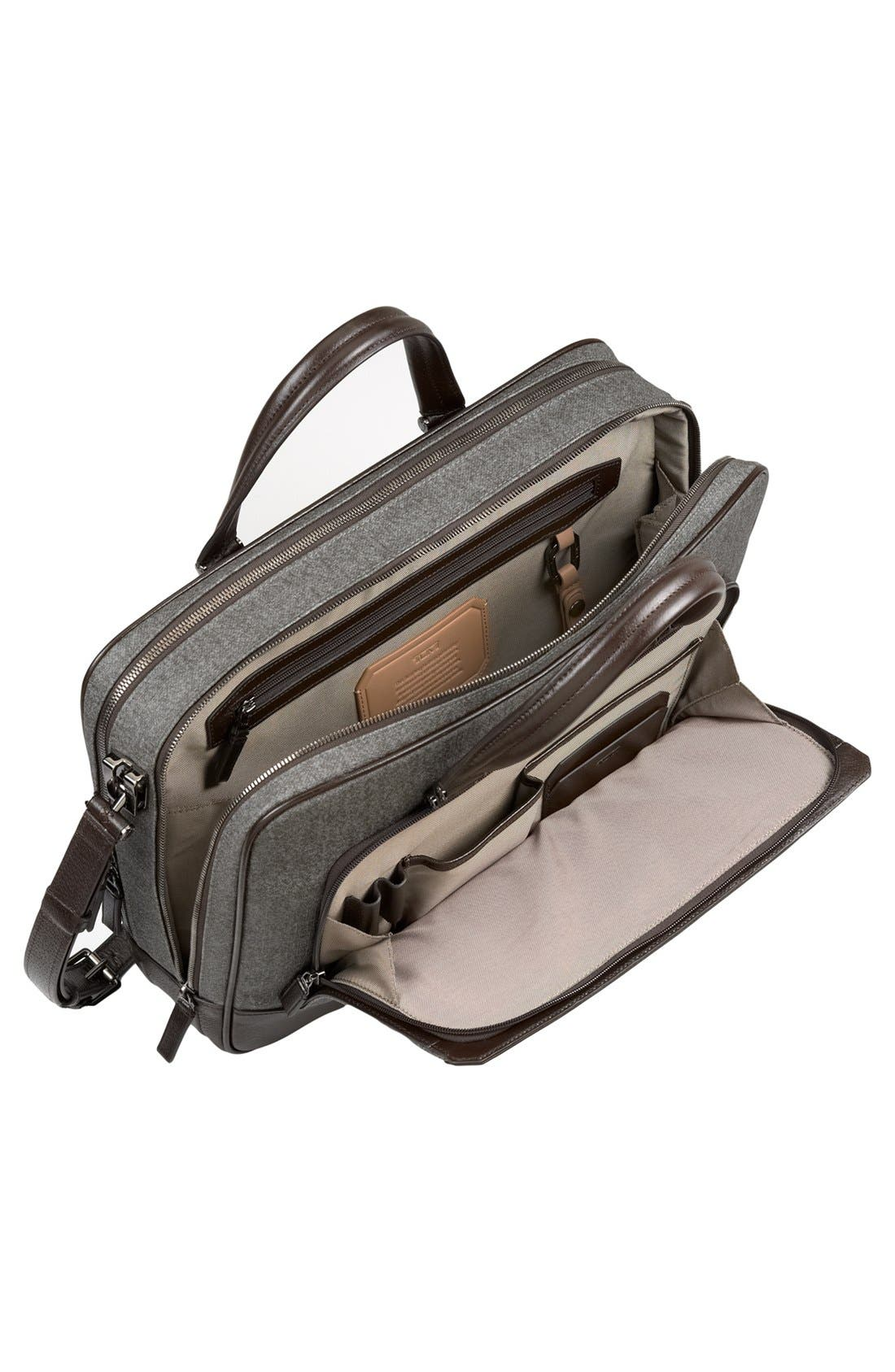 'Astor Ansonia' Zip Top Coated Canvas Laptop Briefcase,                             Alternate thumbnail 4, color,                             068
