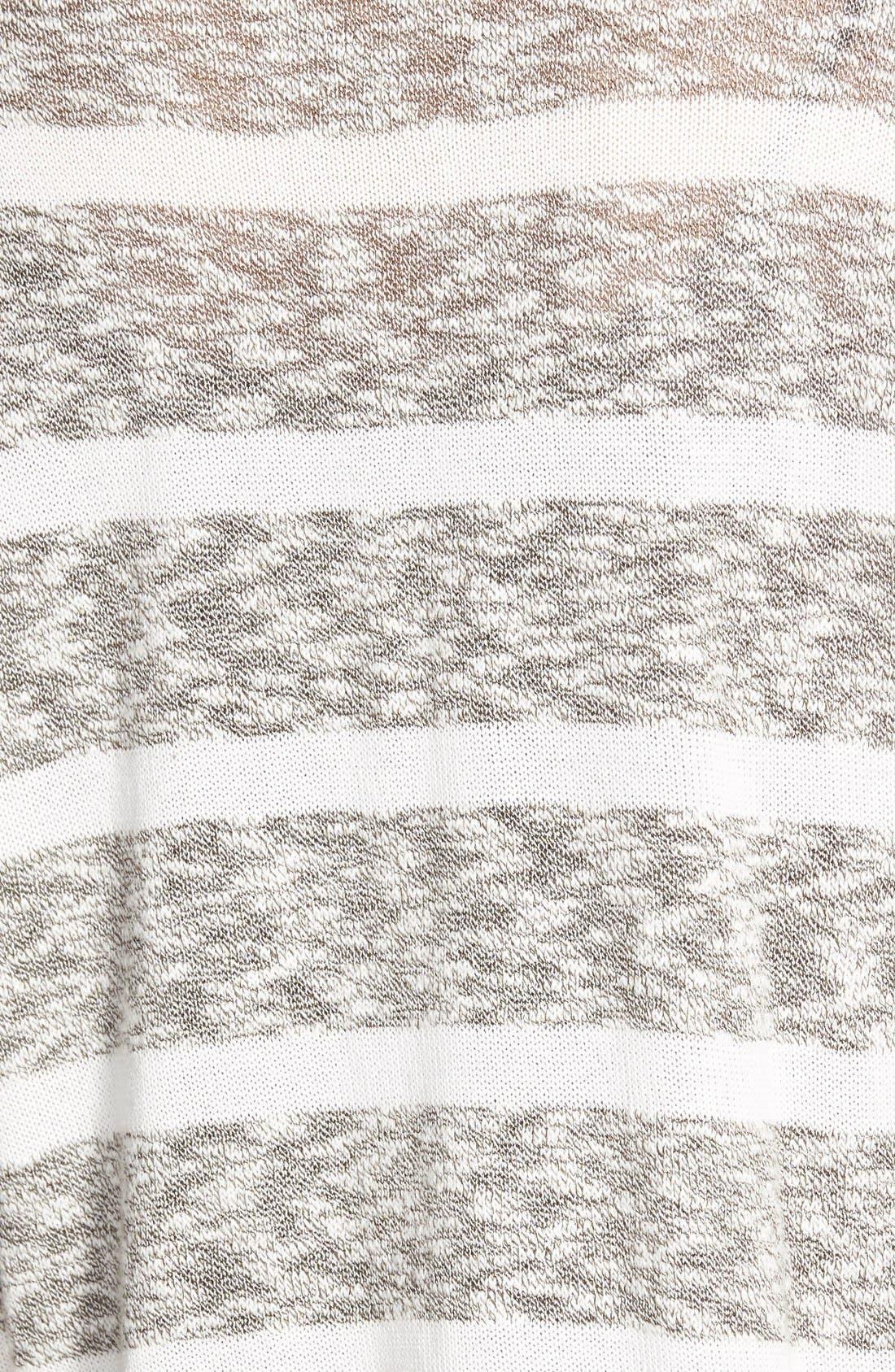 BP. Stripe Slub Knit Pullover,                             Alternate thumbnail 3, color,                             001