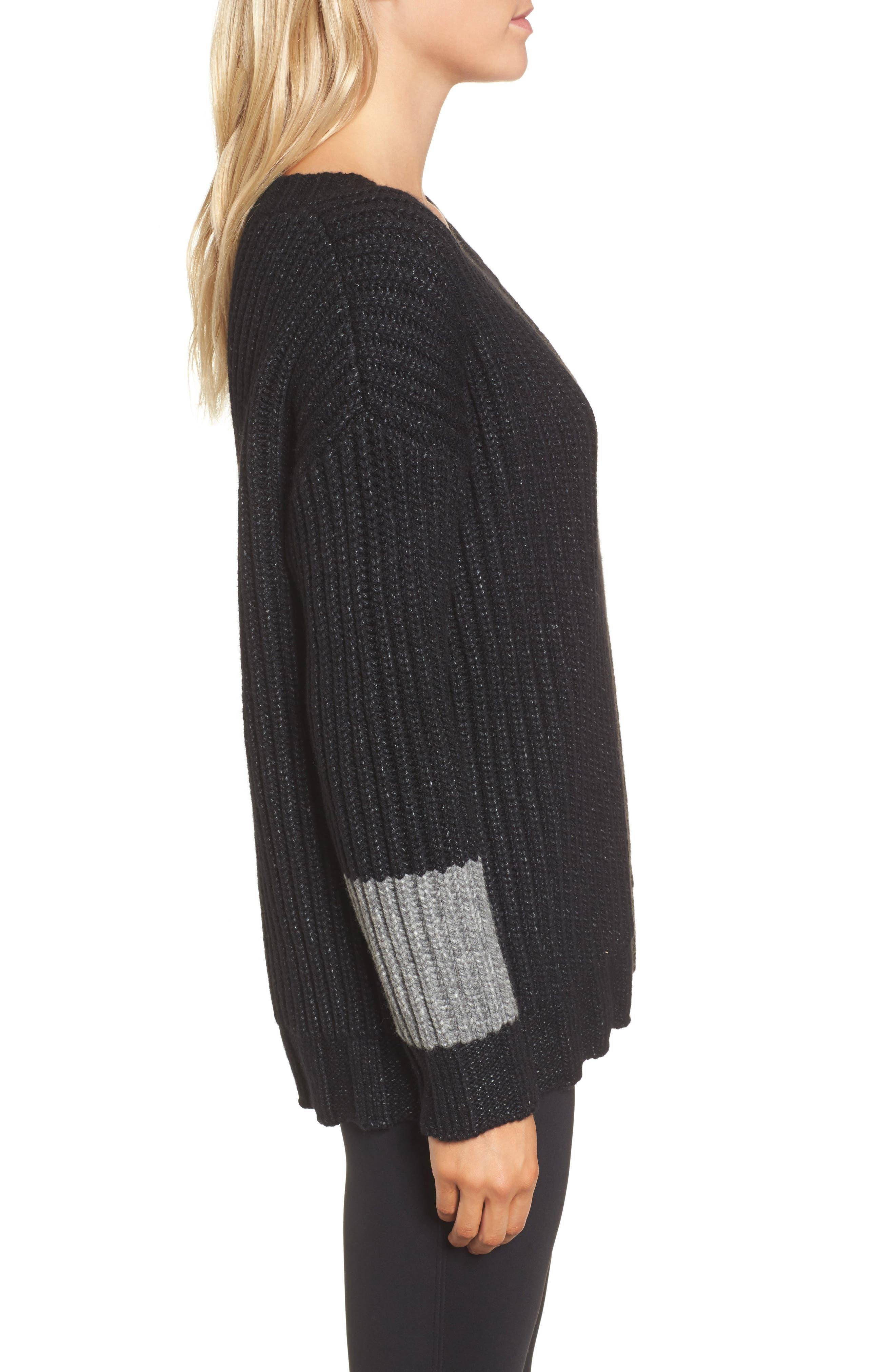 Chunky Armband Sweater,                             Alternate thumbnail 3, color,                             008