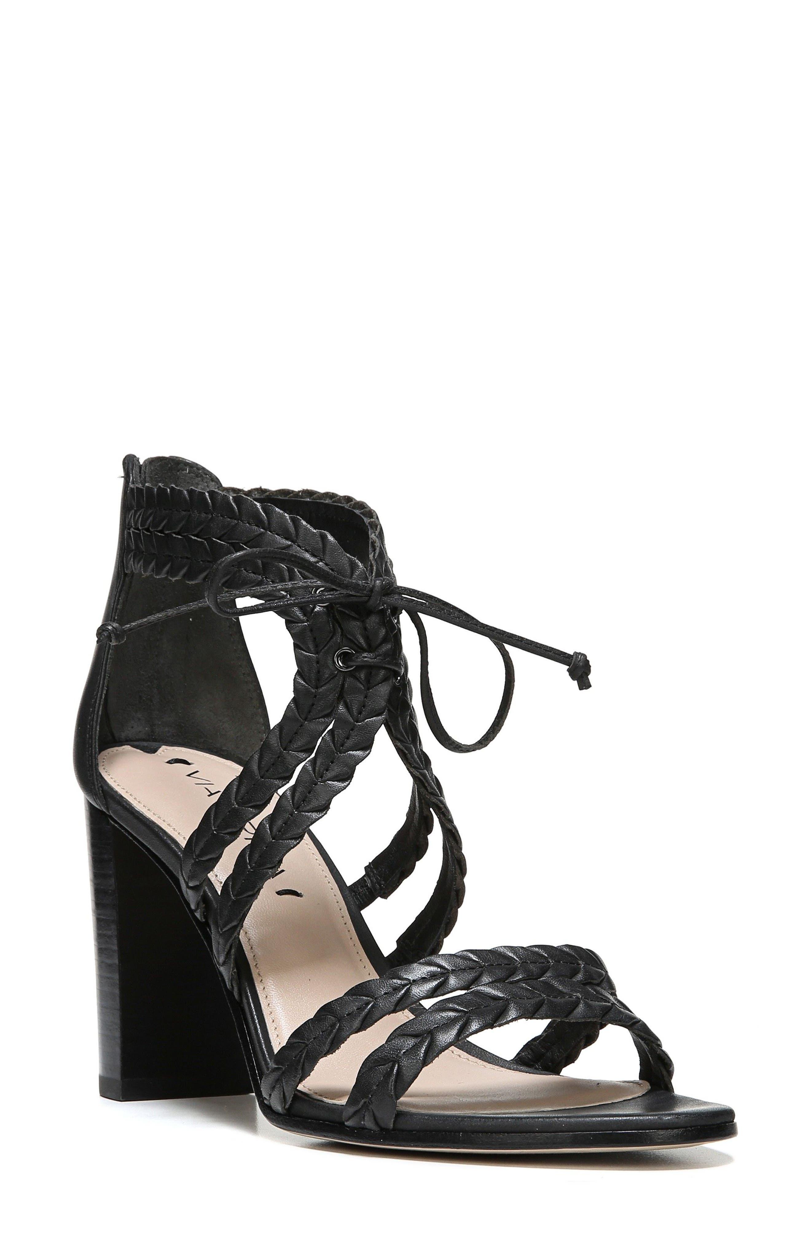 VIA SPIGA Gardenia Lace-Up Sandal, Main, color, 001