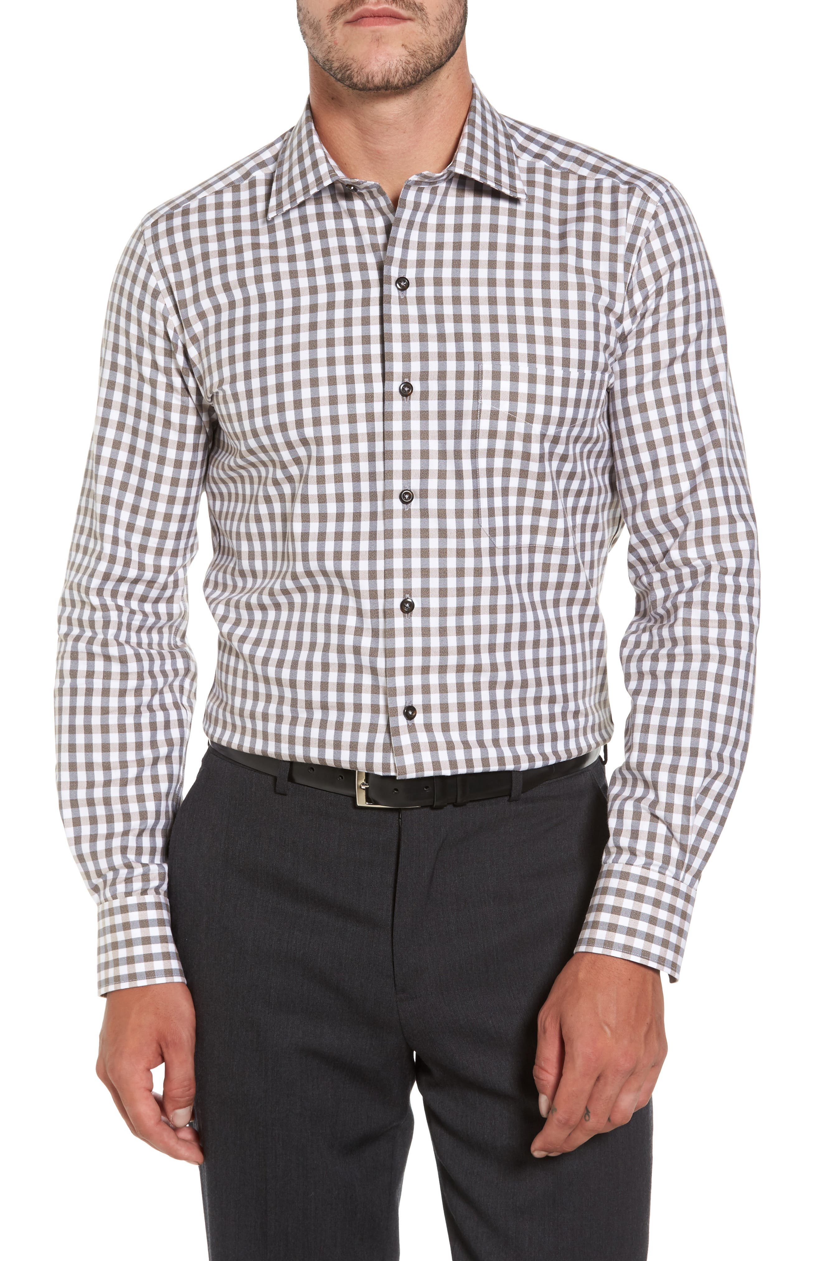 Gingham Sport Shirt,                         Main,                         color, 212