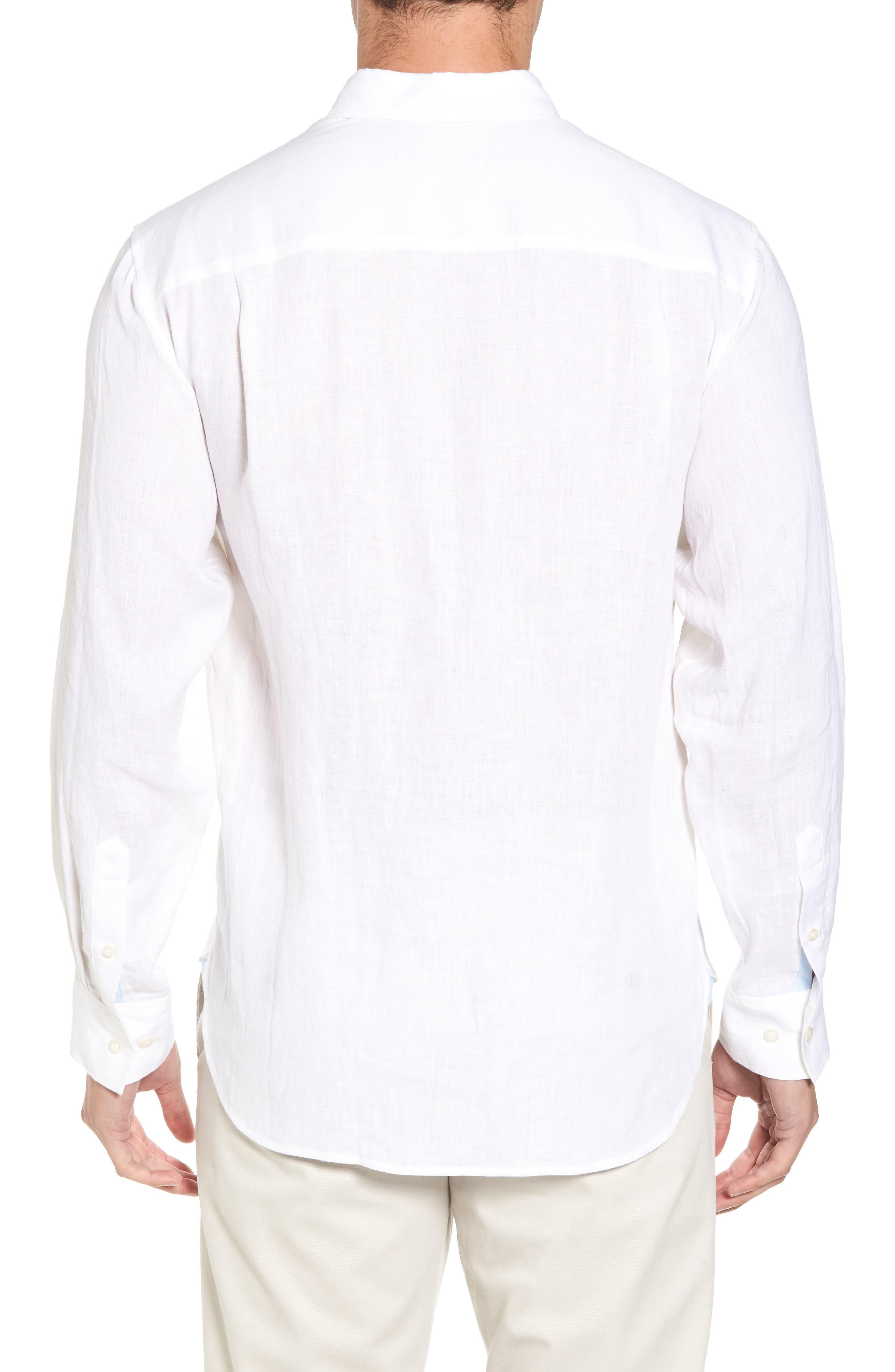 Down the Isle Regular Fit Linen Sport Shirt,                             Alternate thumbnail 2, color,                             100
