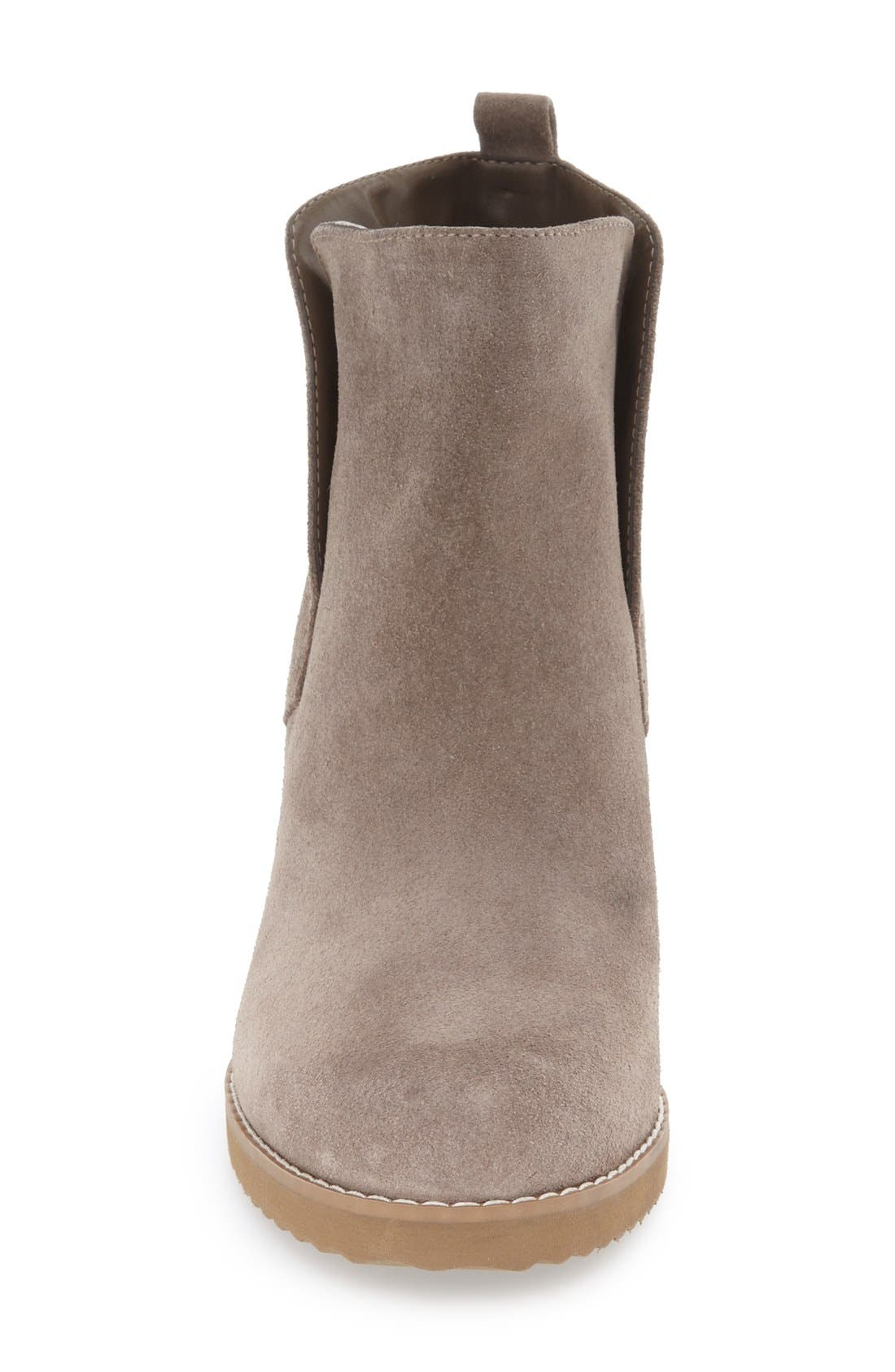 'Karla' Waterproof Wedge Bootie,                             Alternate thumbnail 3, color,