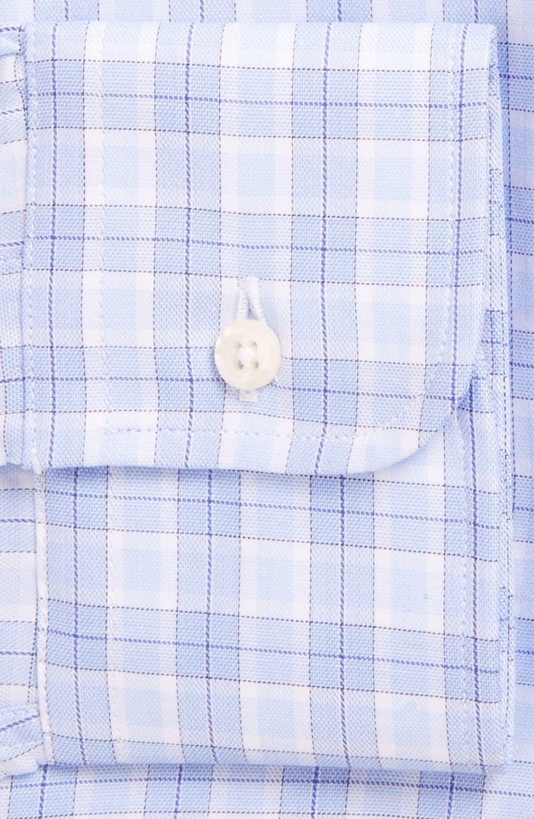 'Broadcloth' Regular Fit Check Dress Shirt,                             Alternate thumbnail 5, color,