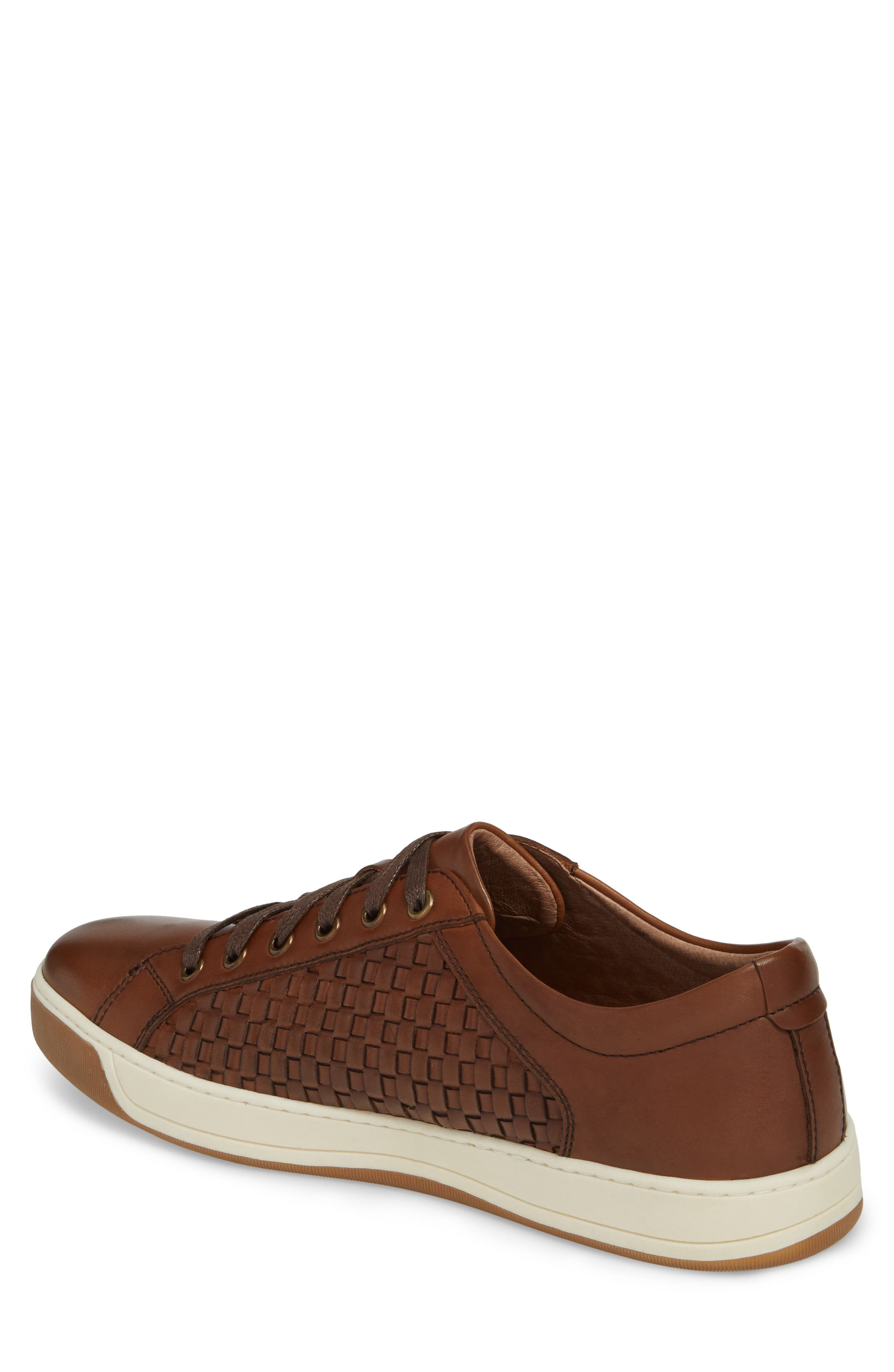 Allister Woven Low Top Sneaker,                             Alternate thumbnail 2, color,                             BROWN