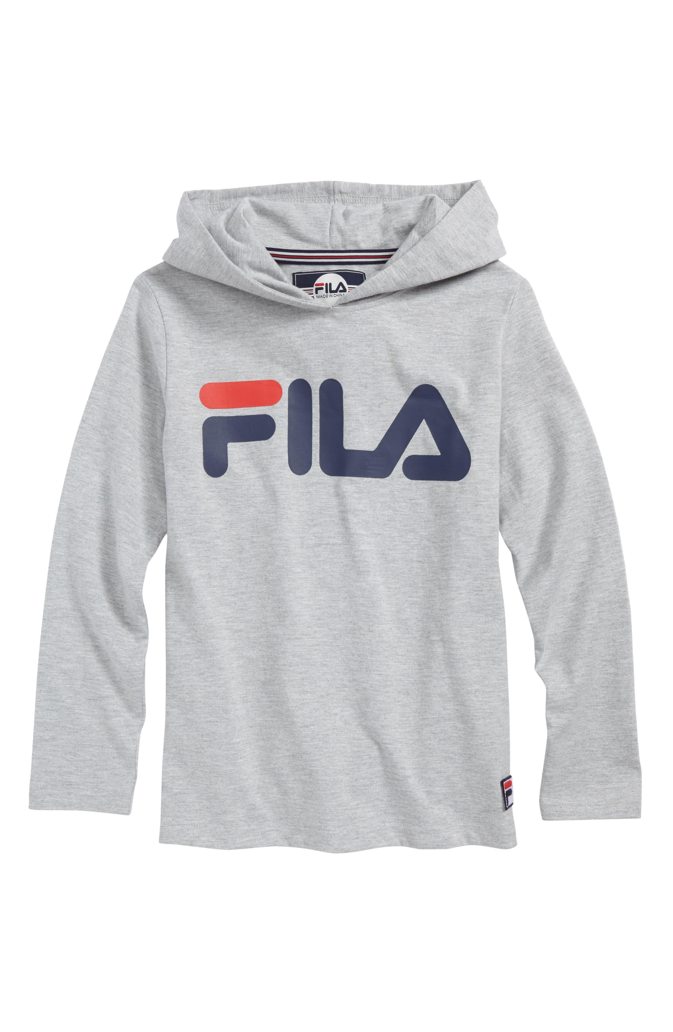 Long Sleeve Hooded Logo T-Shirt,                             Main thumbnail 1, color,                             050