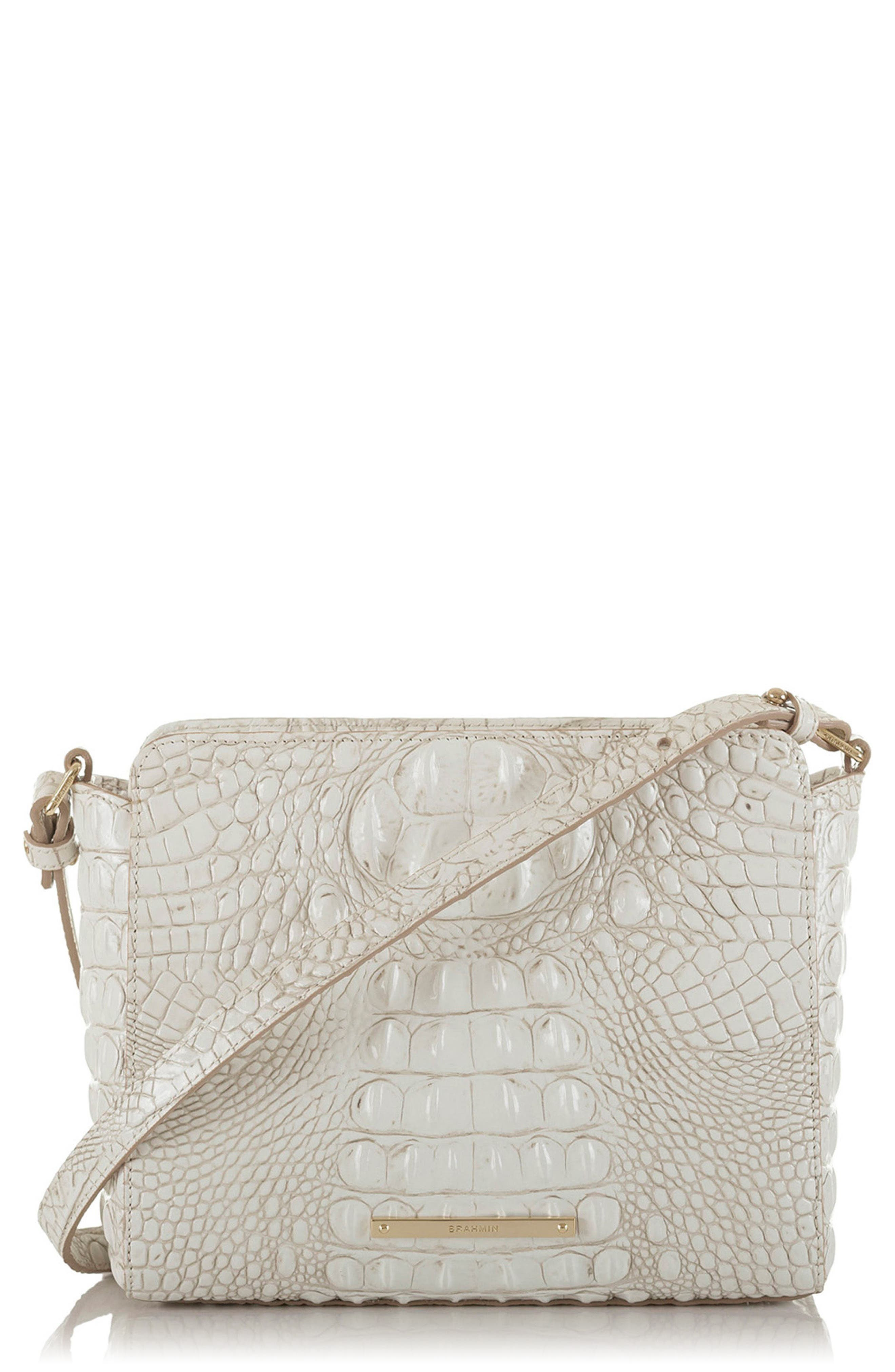 BRAHMIN,                             Melbourne Carrie Leather Crossbody Bag,                             Main thumbnail 1, color,                             100