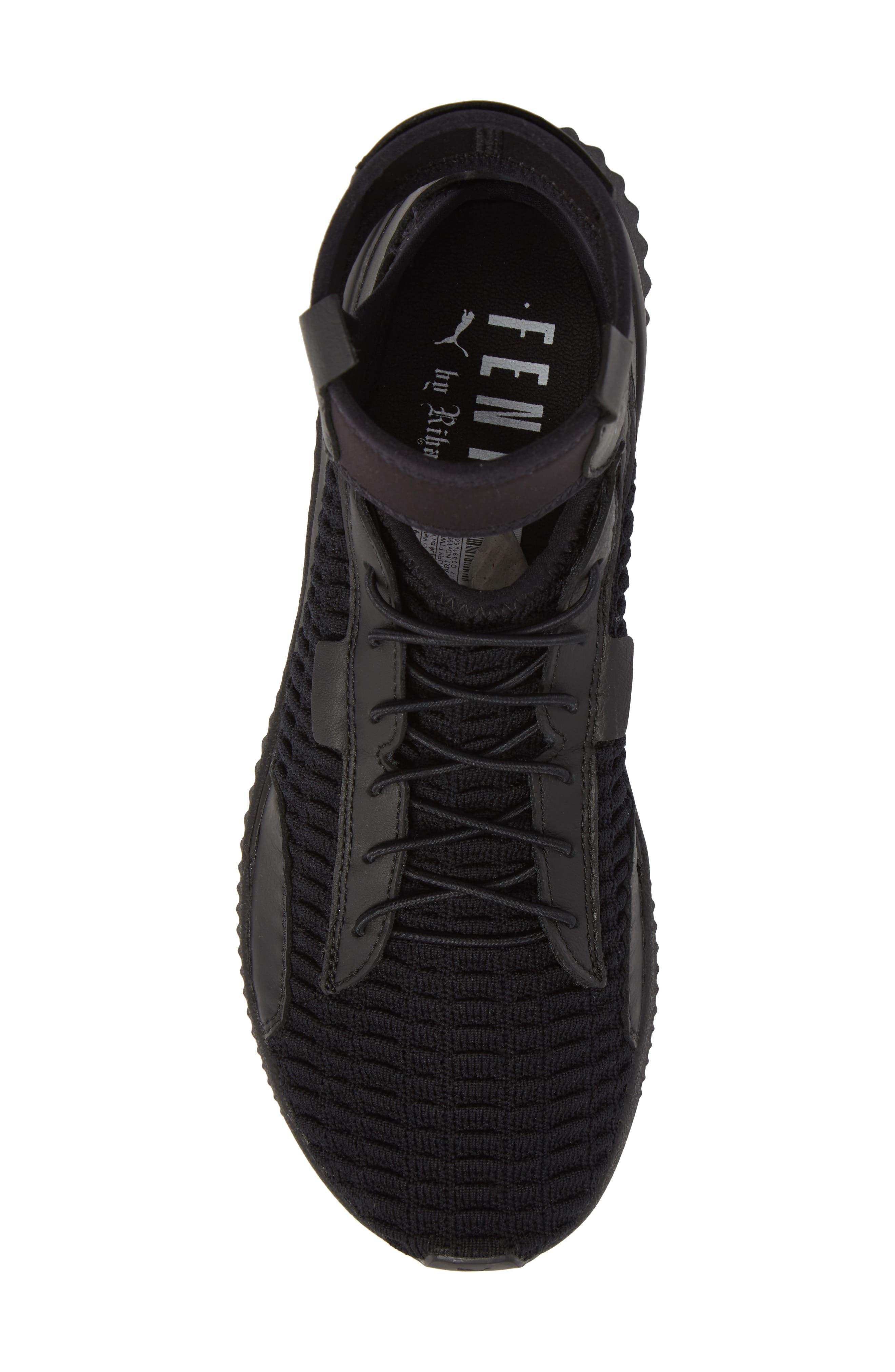FENTY PUMA by Rihanna High Top Sneaker,                             Alternate thumbnail 5, color,                             001