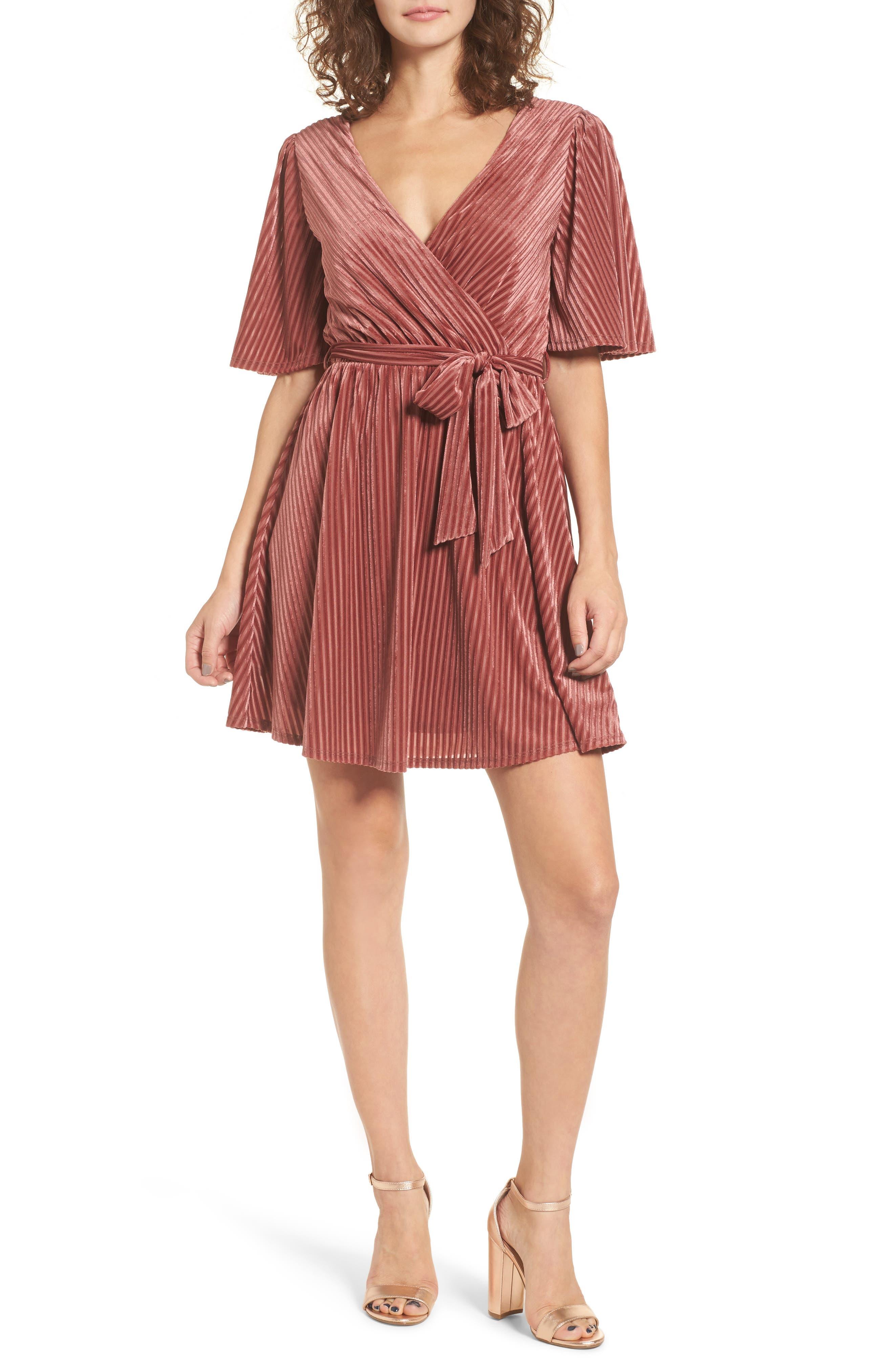 Carmen Velvet Minidress,                         Main,                         color, 651