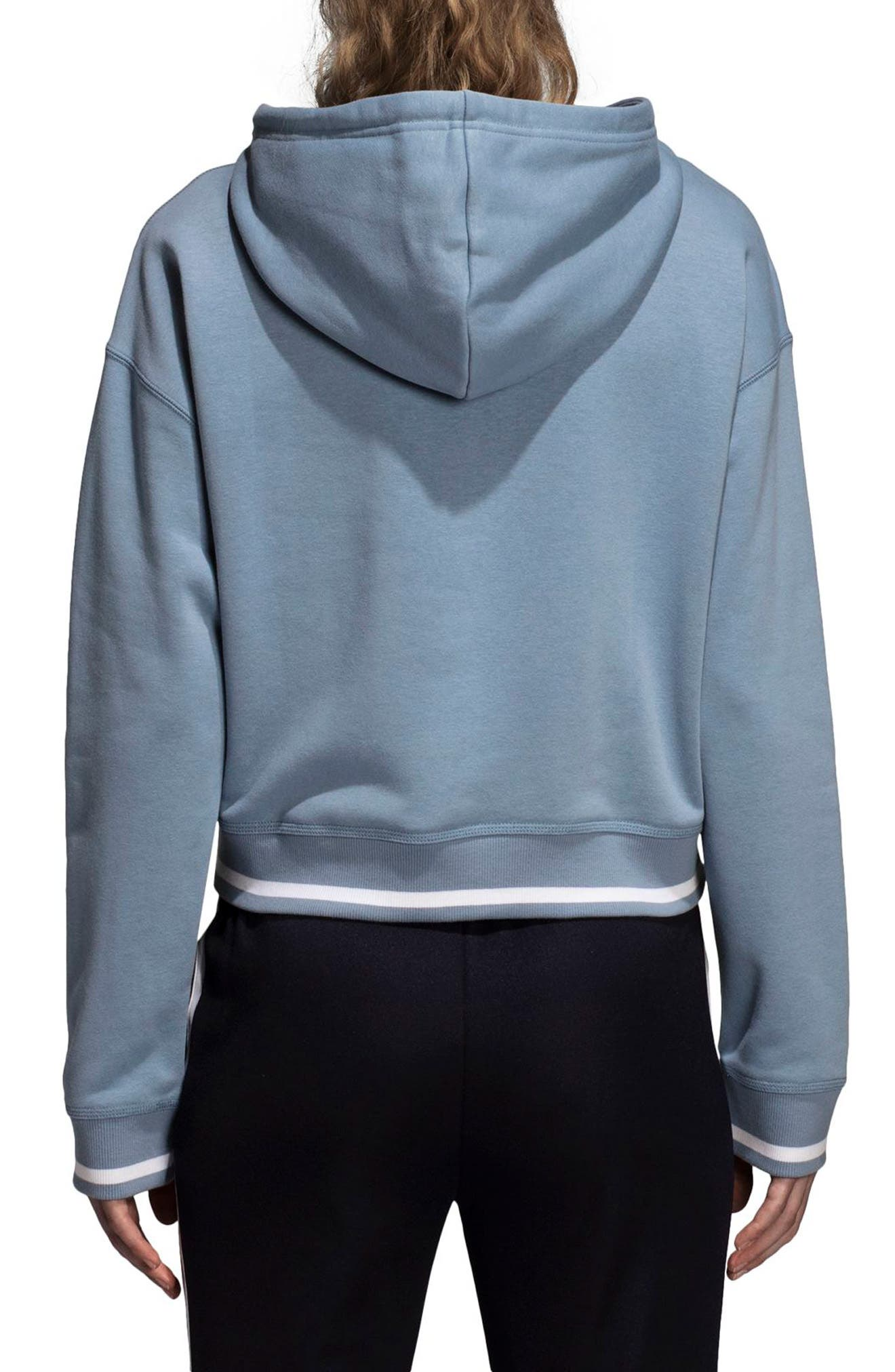 adidas Active Icons Crop Hoodie,                             Alternate thumbnail 2, color,                             060