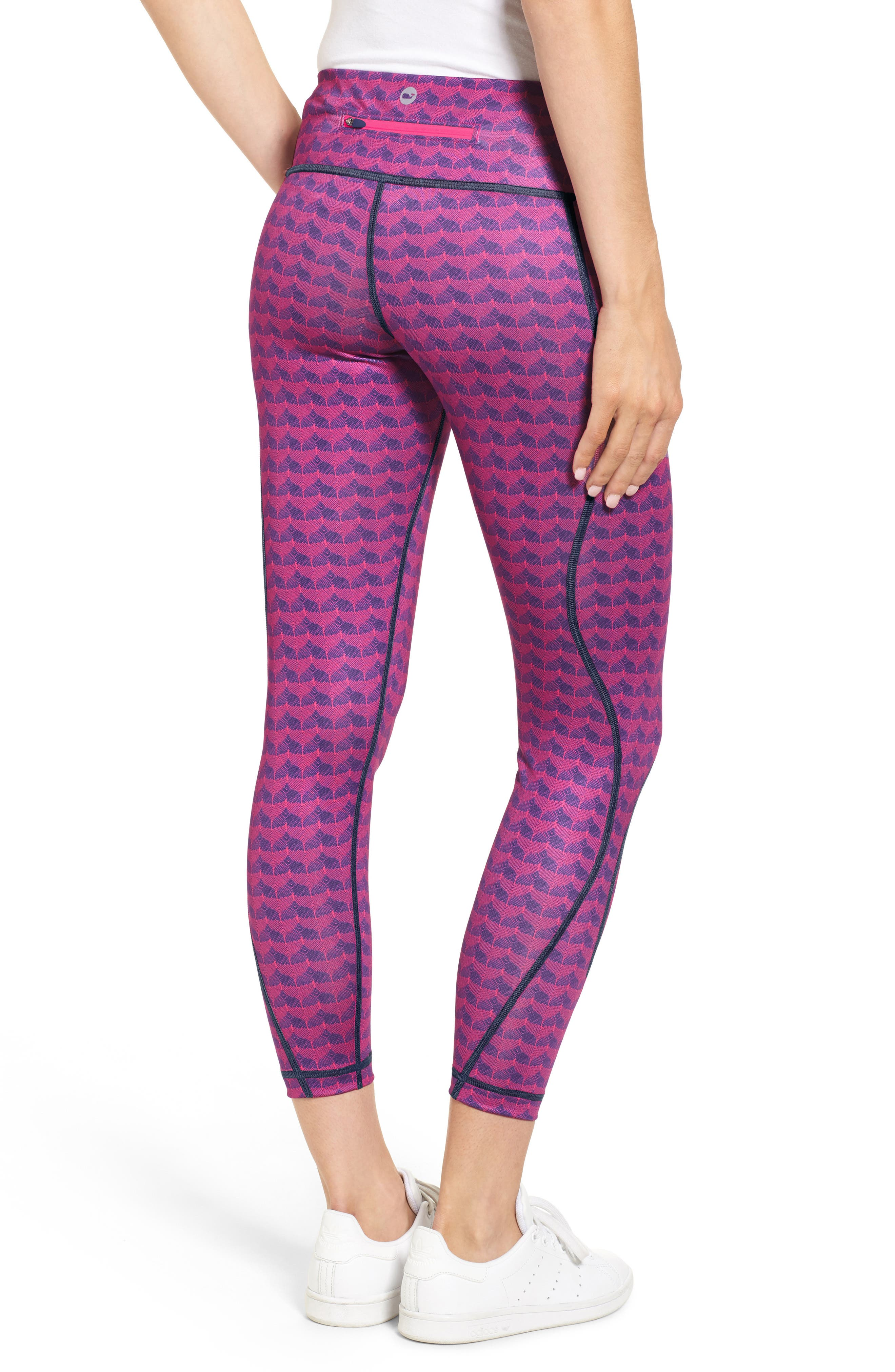 Etched Whale Tail Performance Leggings,                             Alternate thumbnail 2, color,                             650