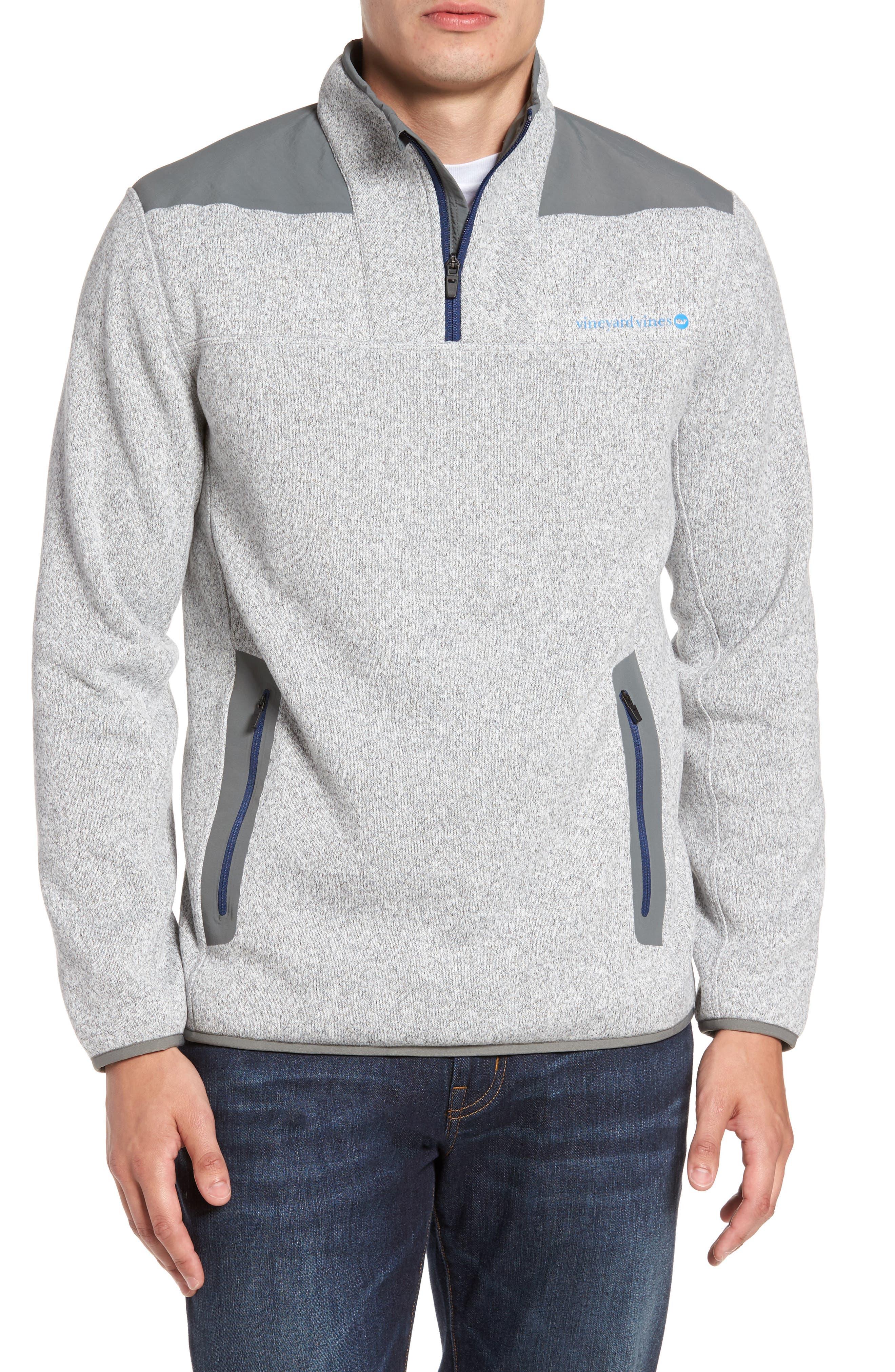 Shep Quarter Zip Fleece Sweater,                         Main,                         color, 039