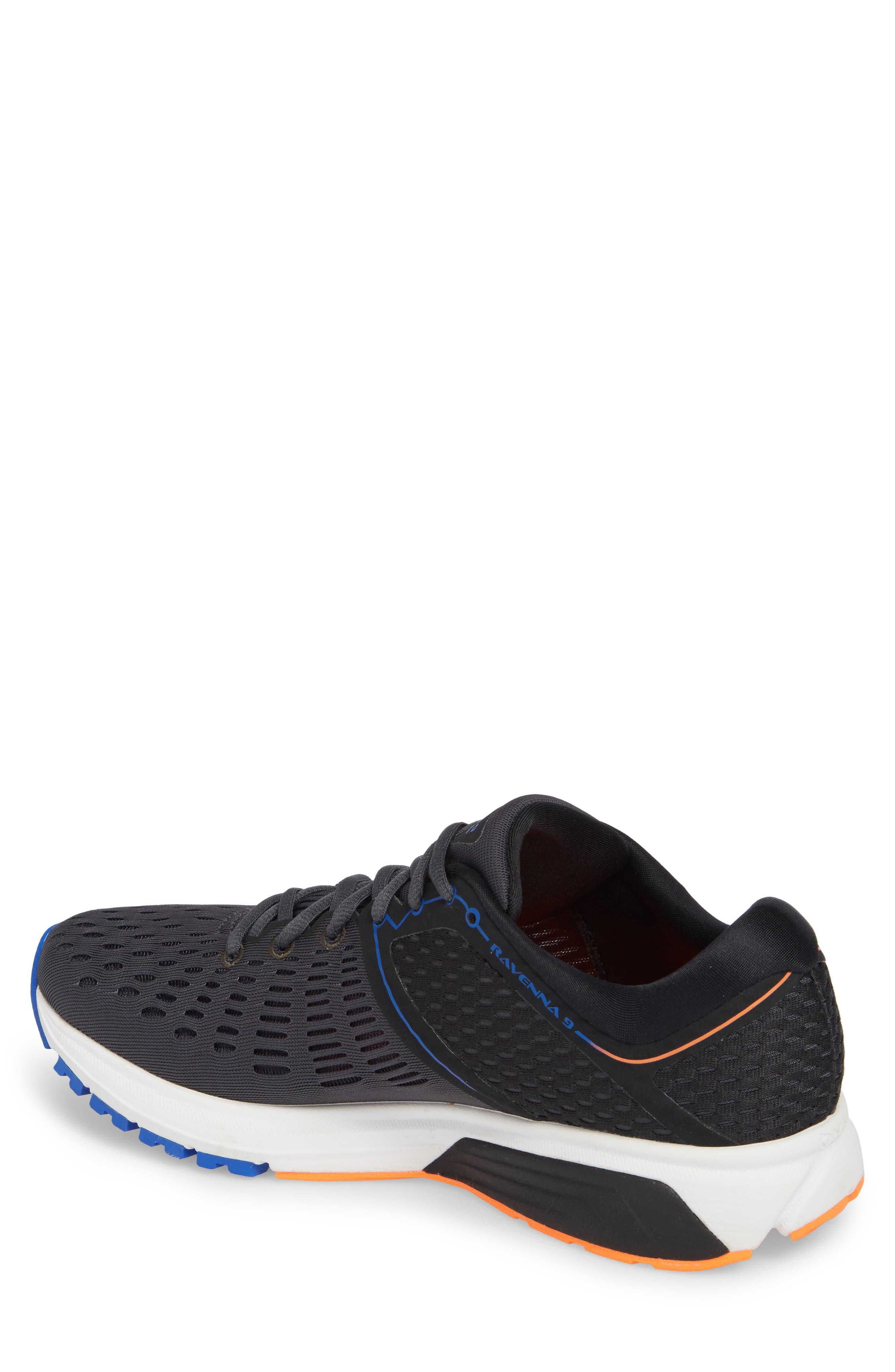 Ravenna 9 Running Shoe,                             Alternate thumbnail 2, color,                             EBONY/ BLUE/ ORANGE