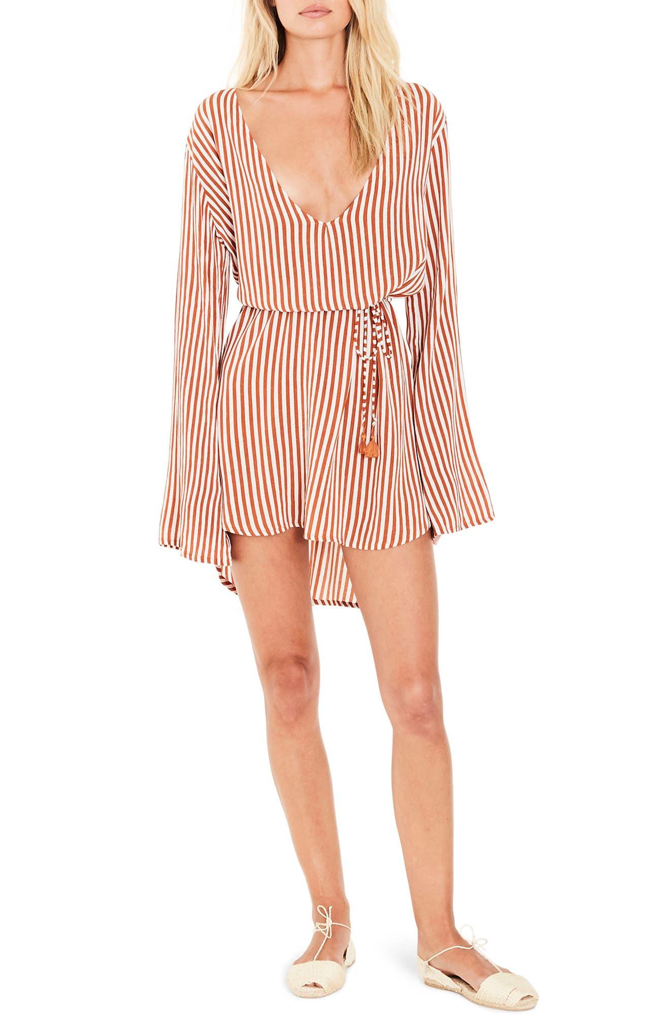 Apart Stripe Dress,                         Main,                         color, 801