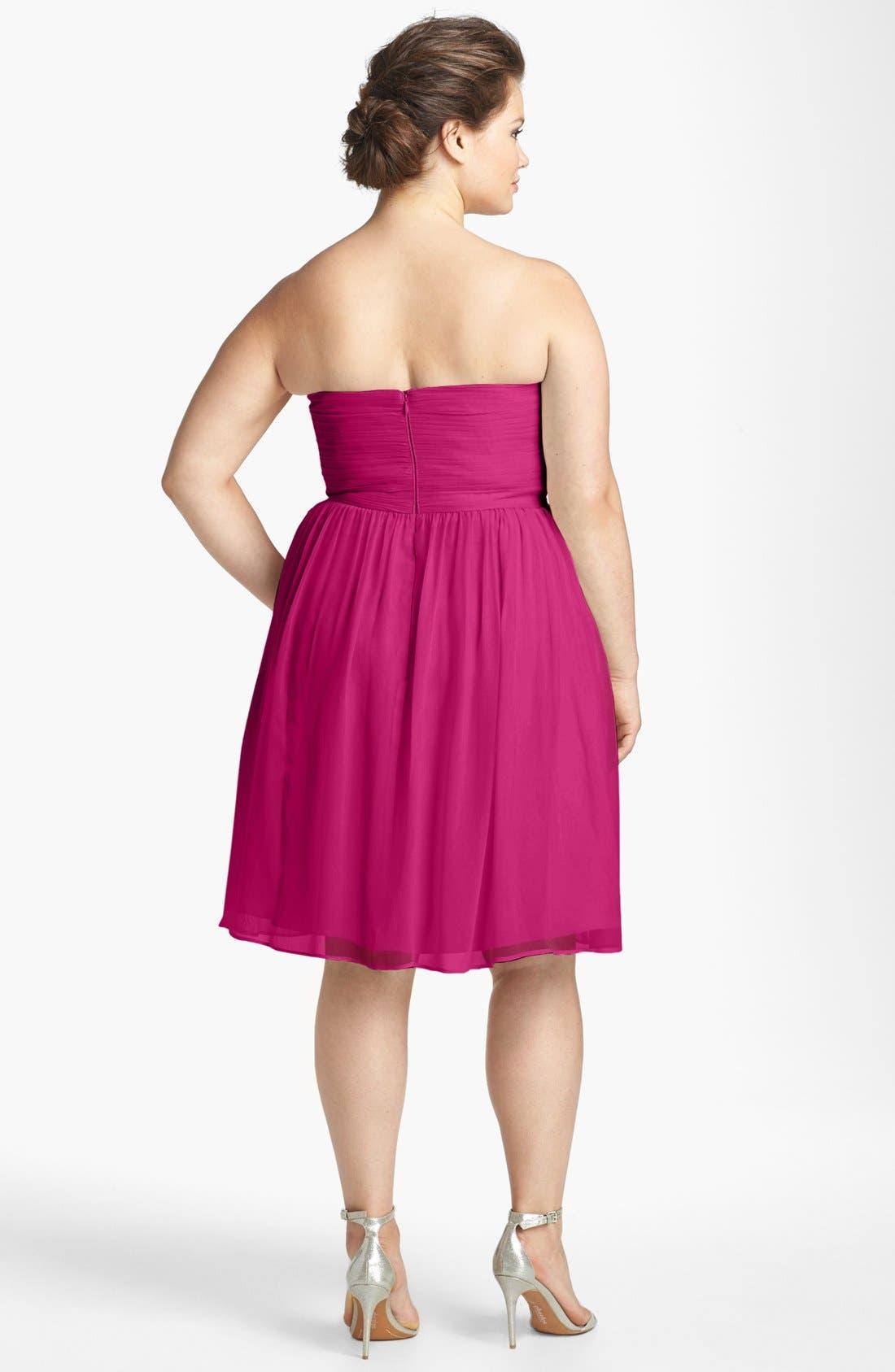 'Morgan' Strapless Silk Chiffon Dress,                             Alternate thumbnail 143, color,