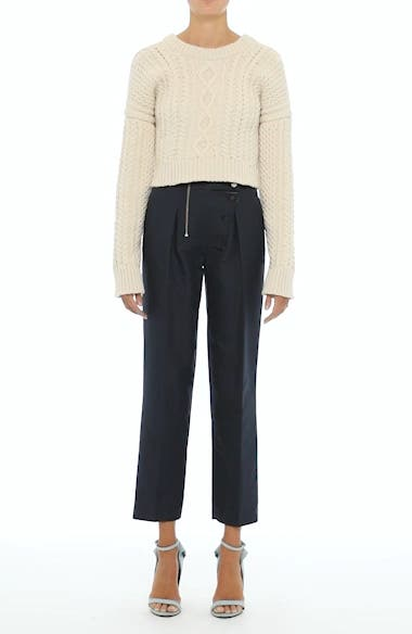 Velvet Stripe Stretch Wool Pants, video thumbnail