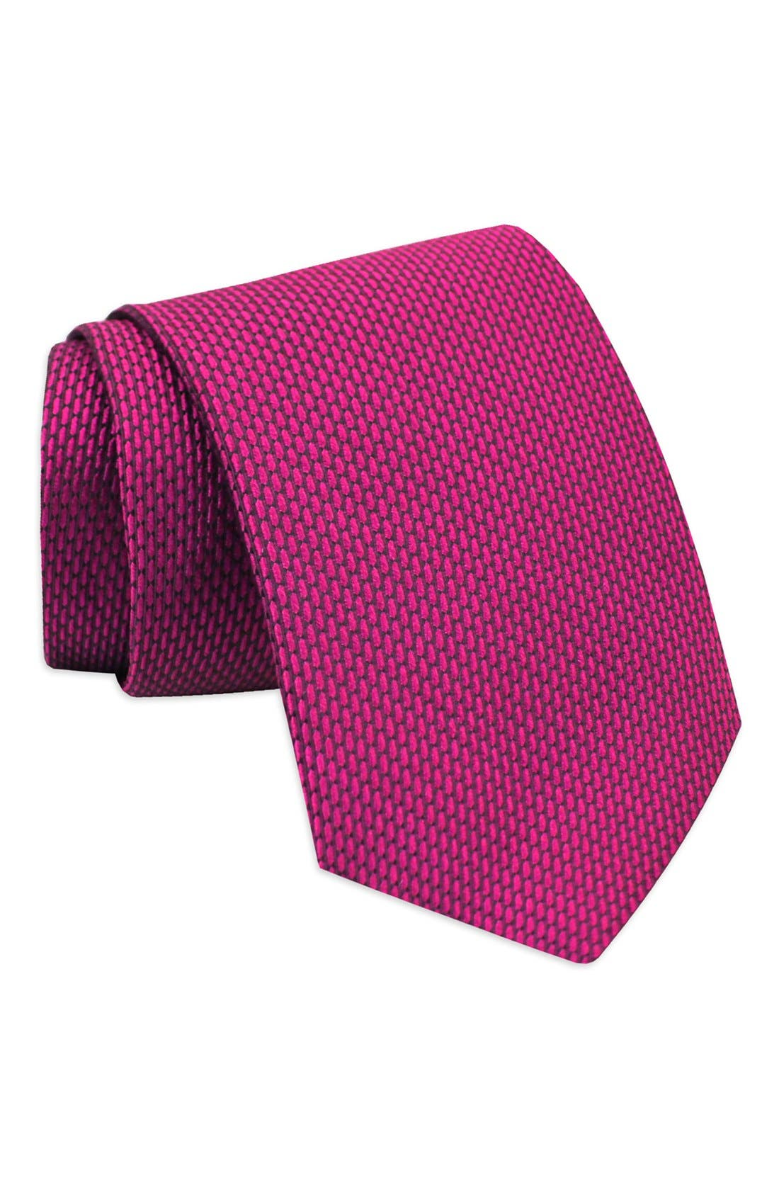'Neat' Woven Silk Tie,                             Main thumbnail 4, color,