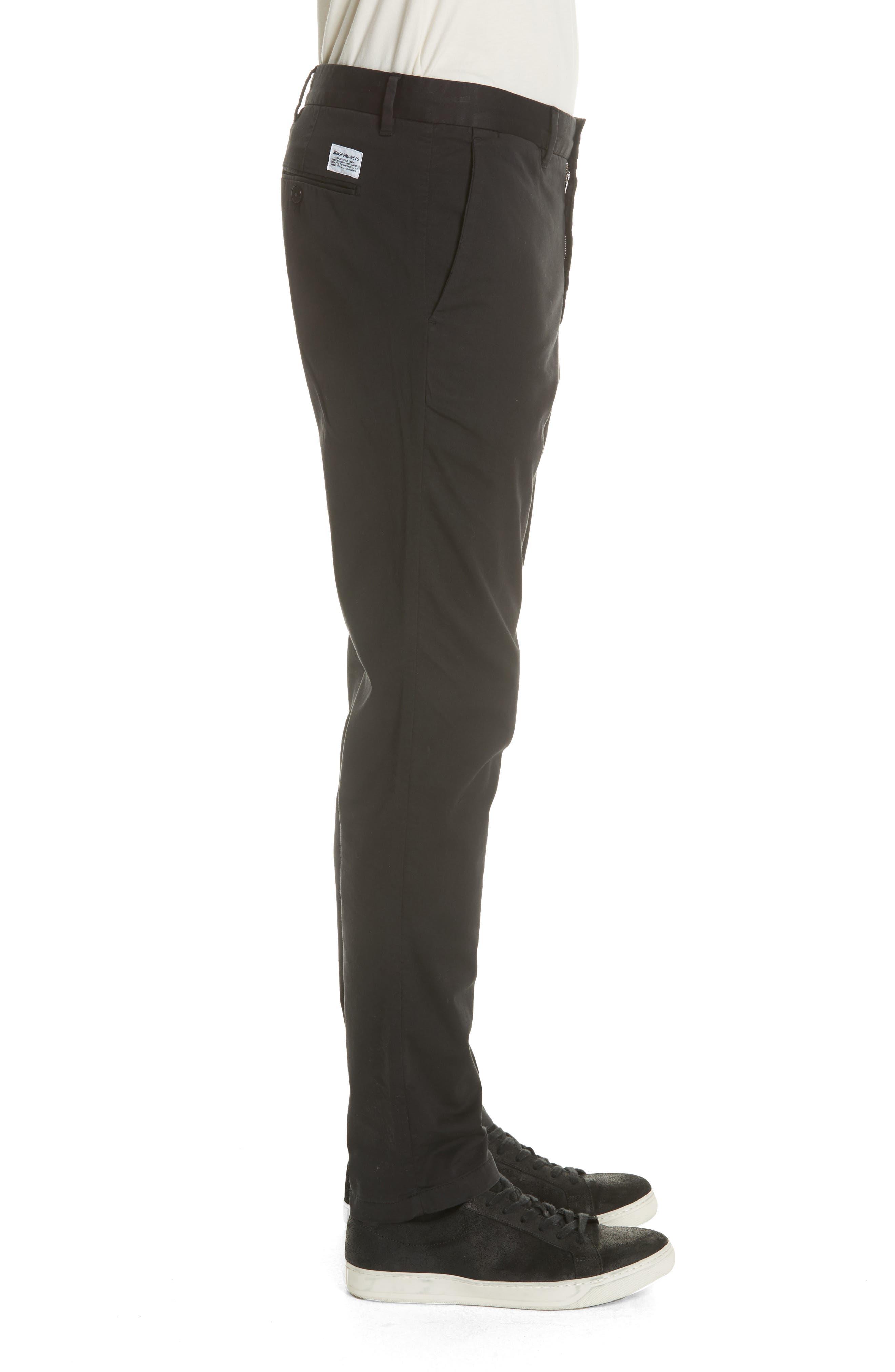 Aros Slim Fit Stretch Twill Pants,                             Alternate thumbnail 3, color,                             BLACK