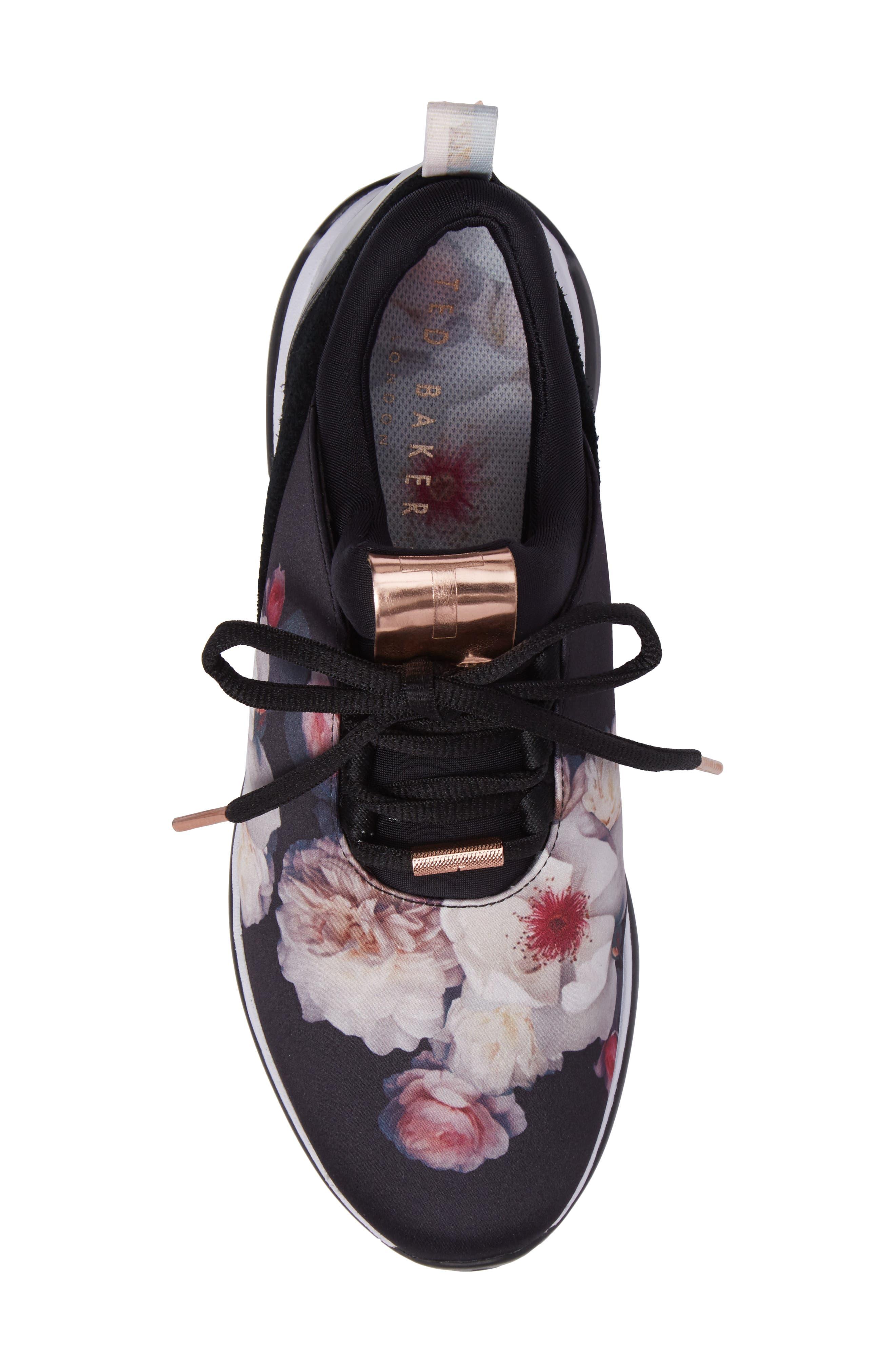Cepape Floral Sneaker,                             Alternate thumbnail 5, color,