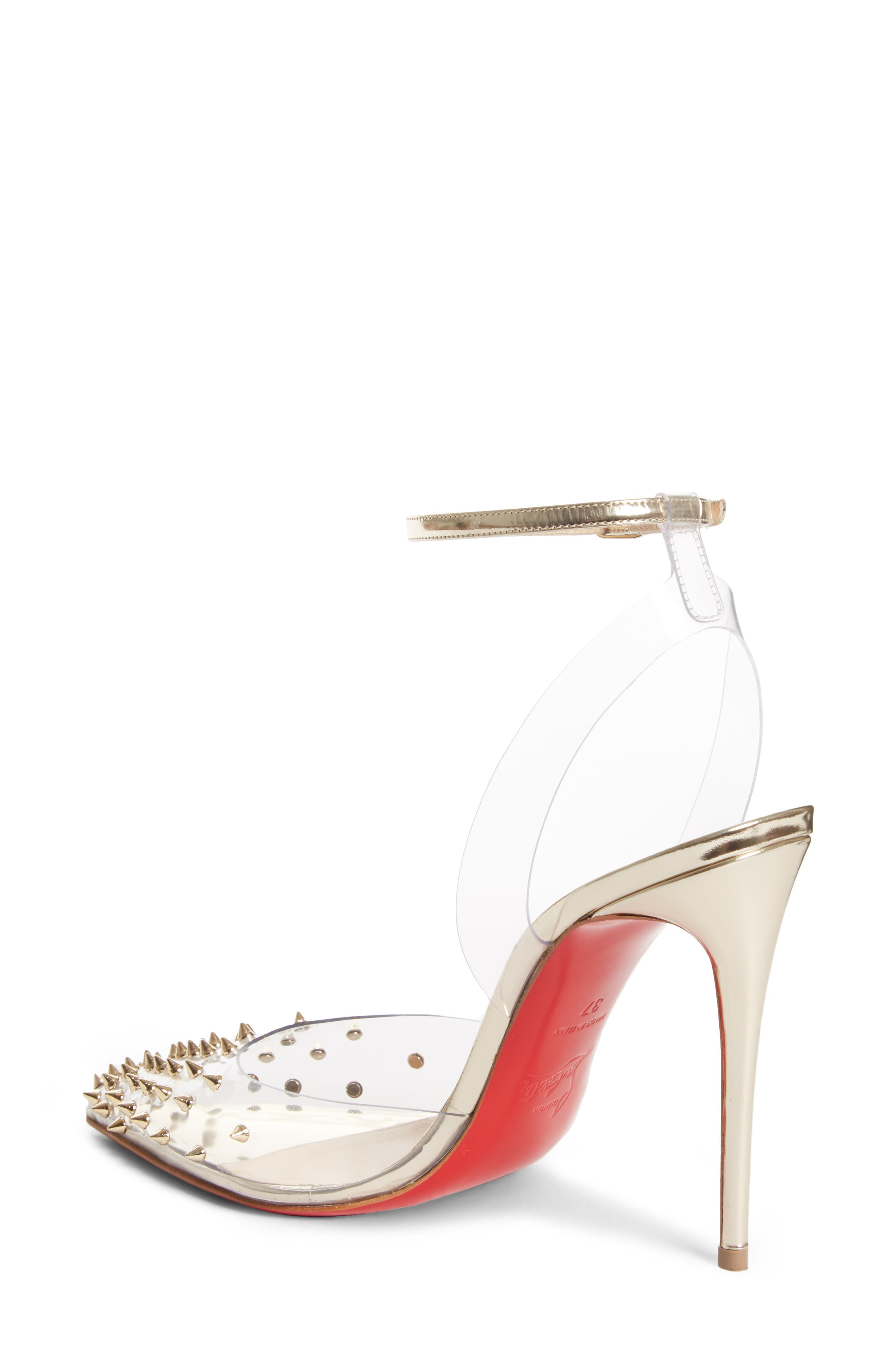 Spikoo Clear Ankle Strap Pump,                             Alternate thumbnail 2, color,                             710