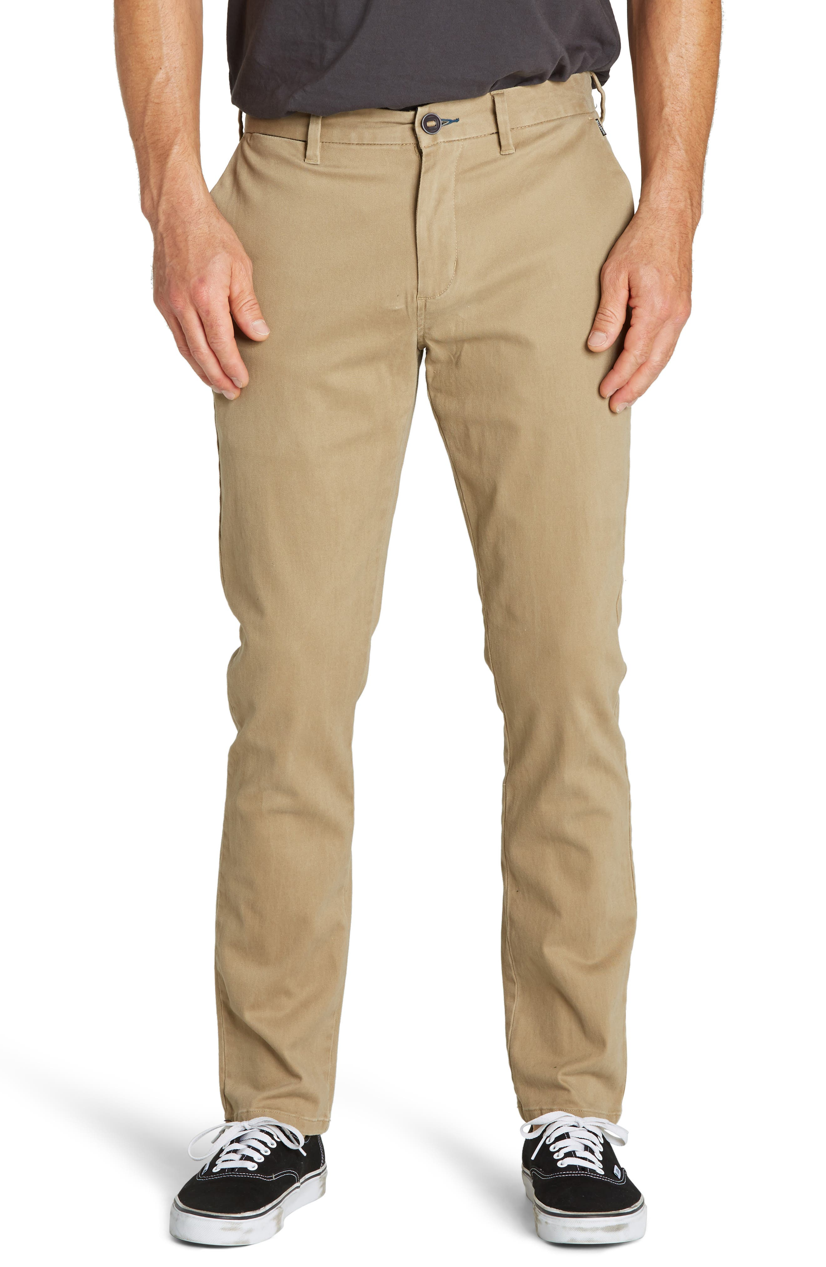 New Order Slim Straight Chinos,                         Main,                         color, RAVEN