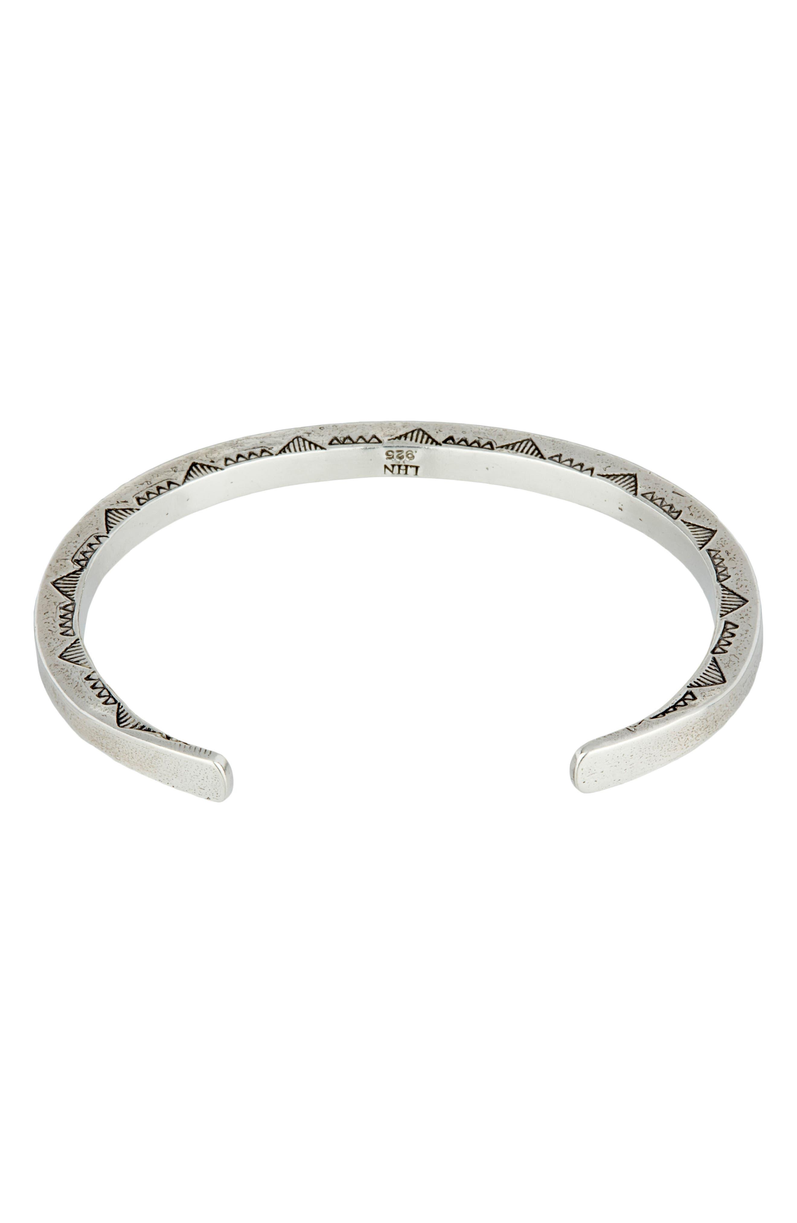 Sterling Silver Cuff Bracelet,                             Alternate thumbnail 2, color,